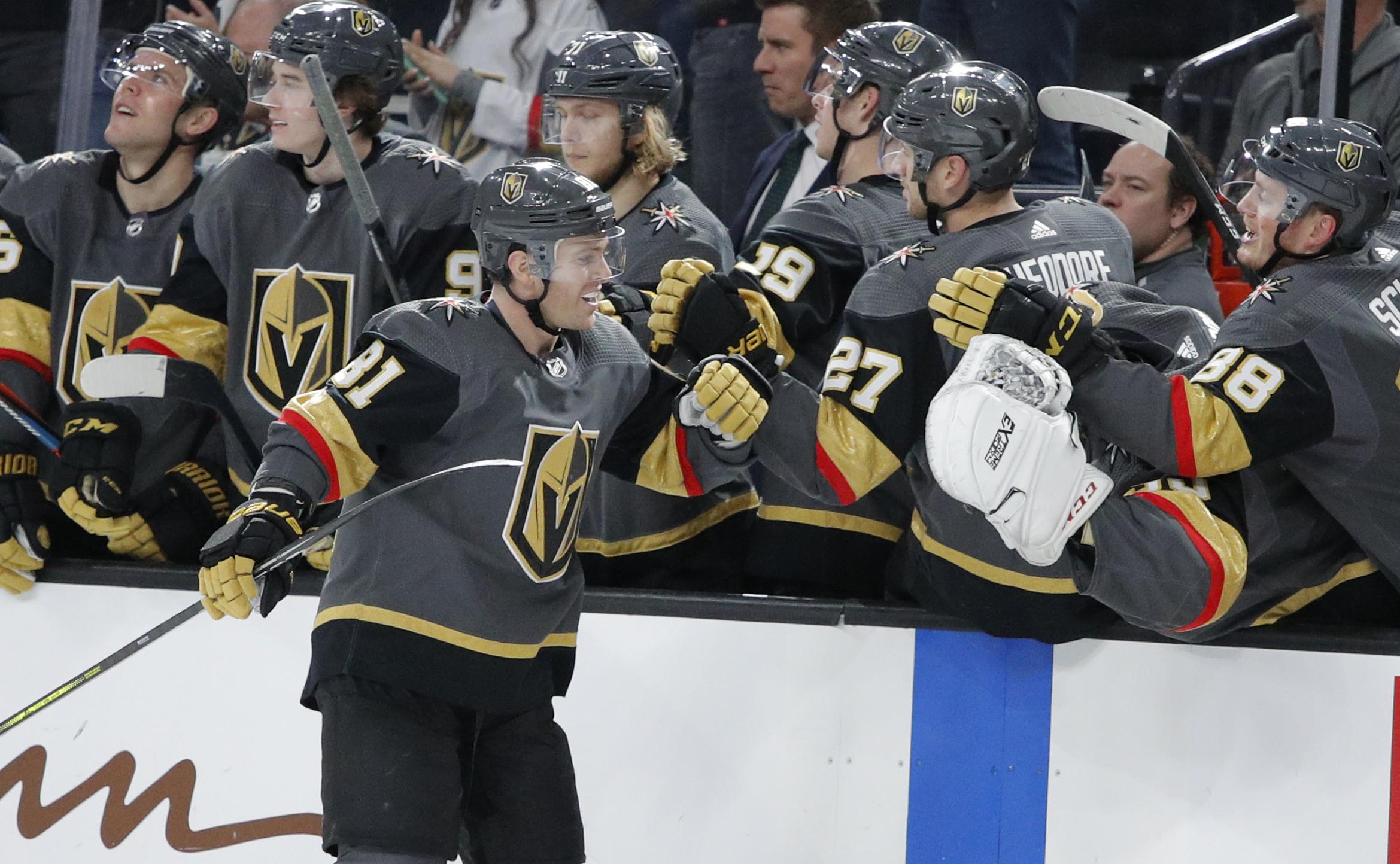 Marchessault scores twice, Vegas tops Anaheim 5-2