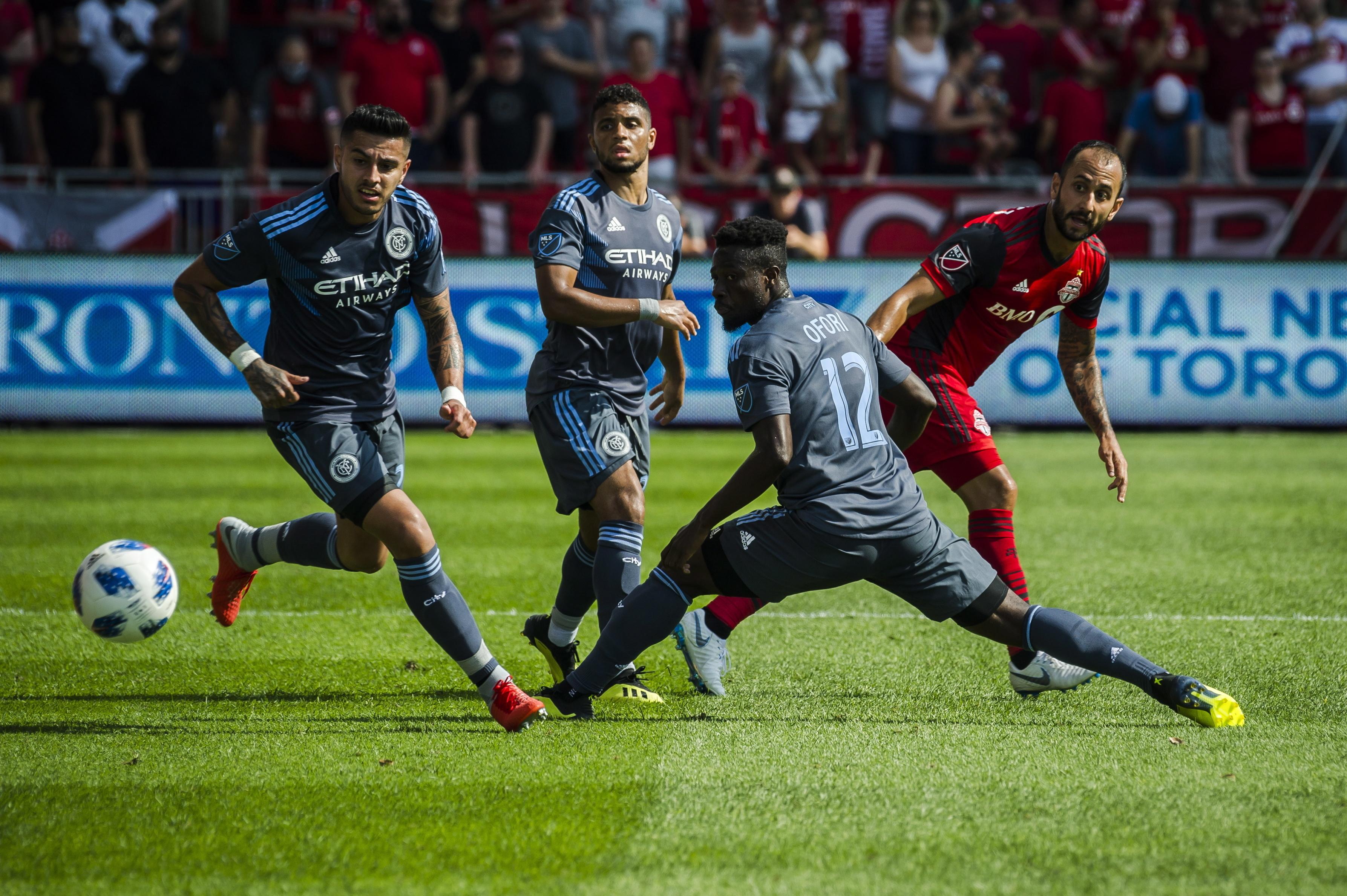 Tajouri-Shradi scores 2 goals, NYC FC beats Toronto 3-2