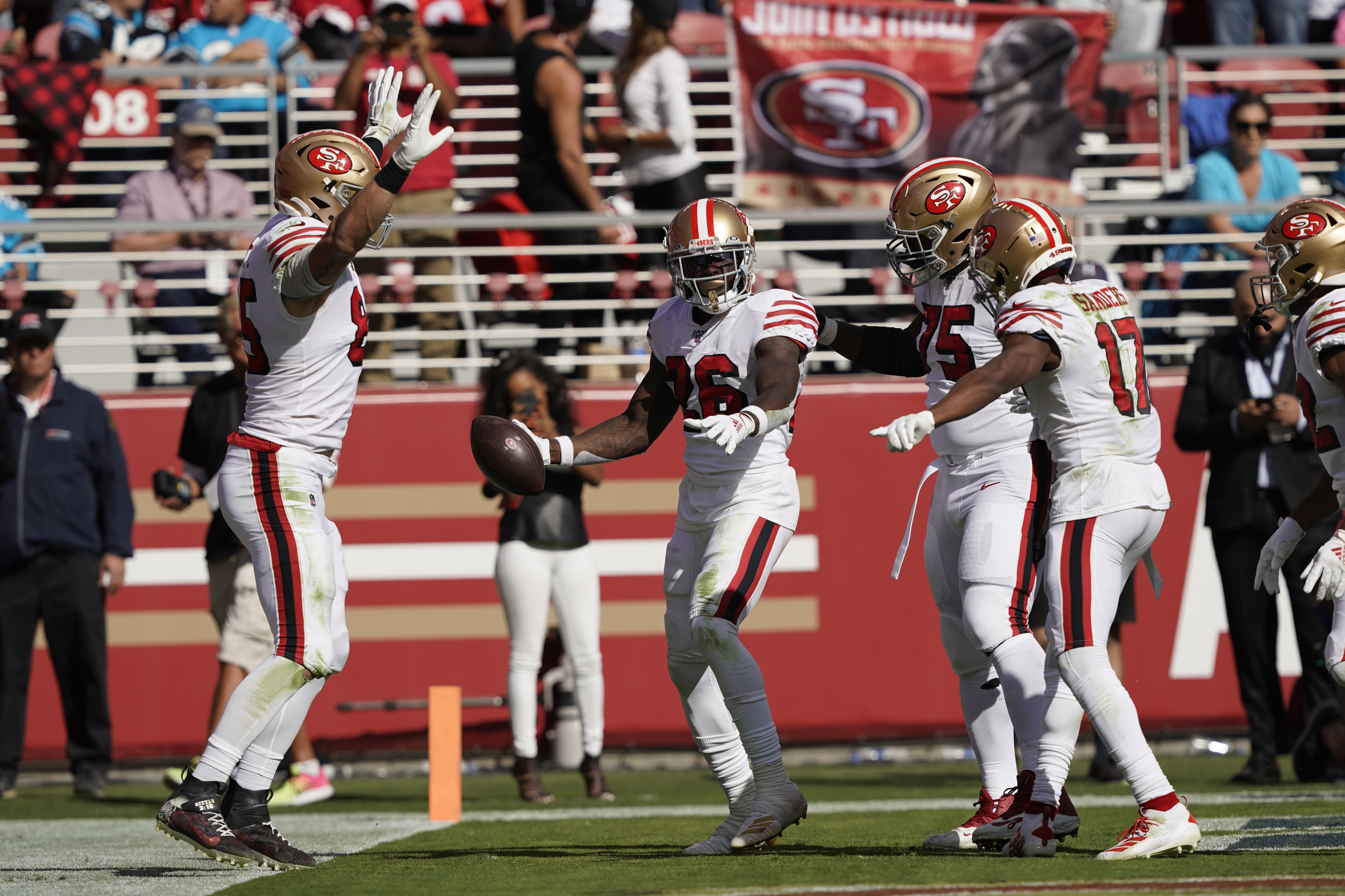 Coleman's 4 TDs lead 49ers past Panthers 51-13