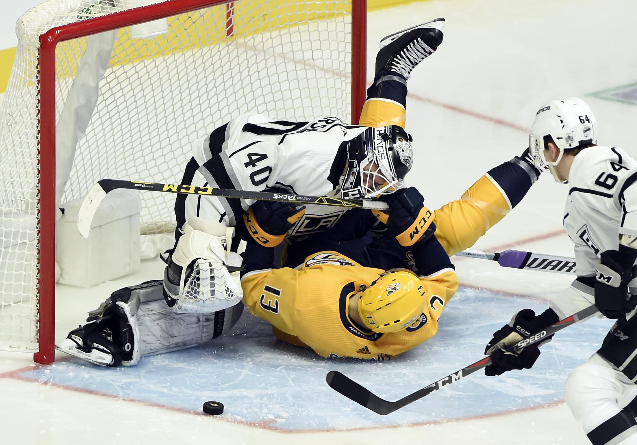 Jarnkrok's hat trick leads Predators over Kings 5-3