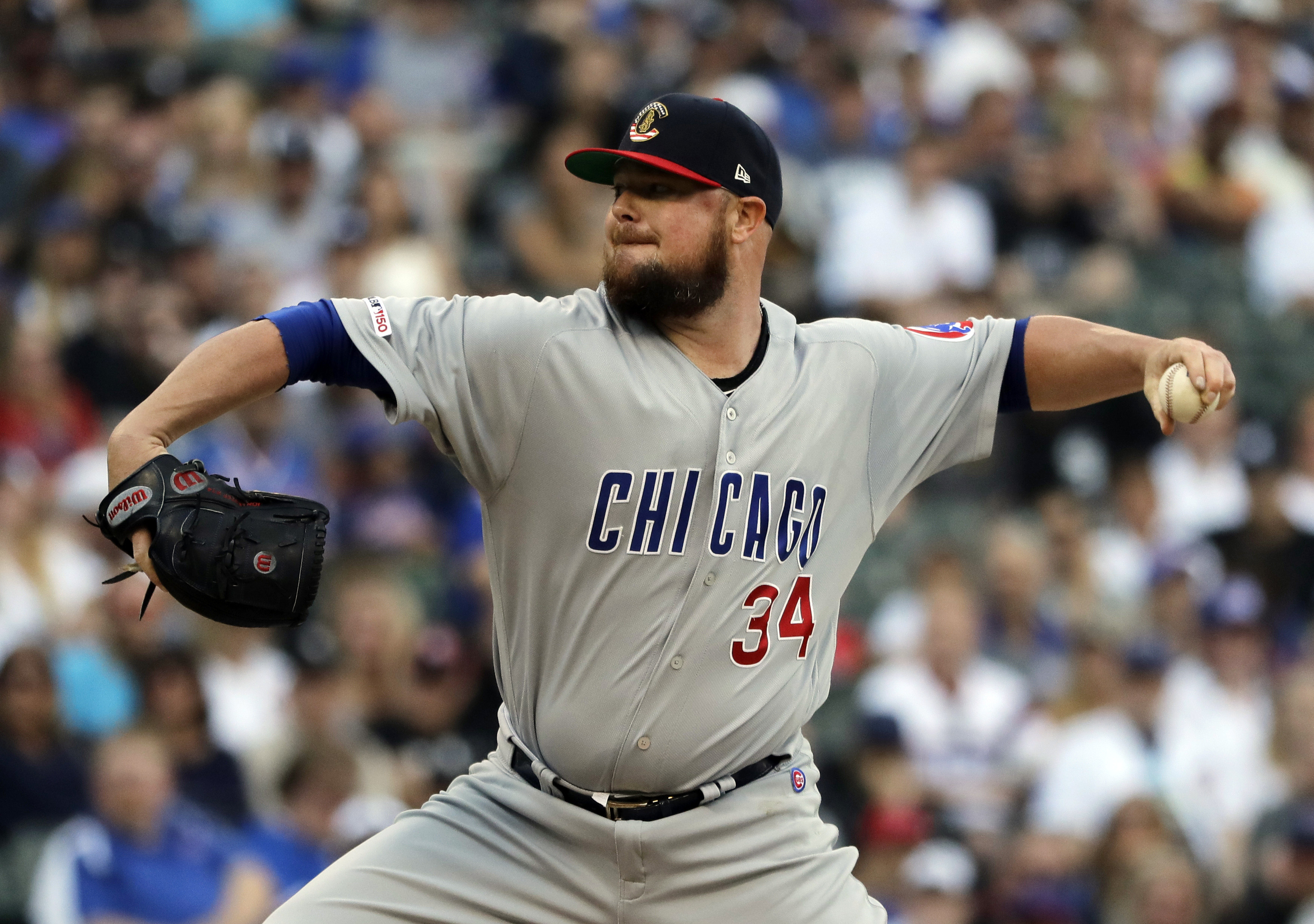 Lester pitches into 7th, Cubs beat Giolito, White Sox 6-3