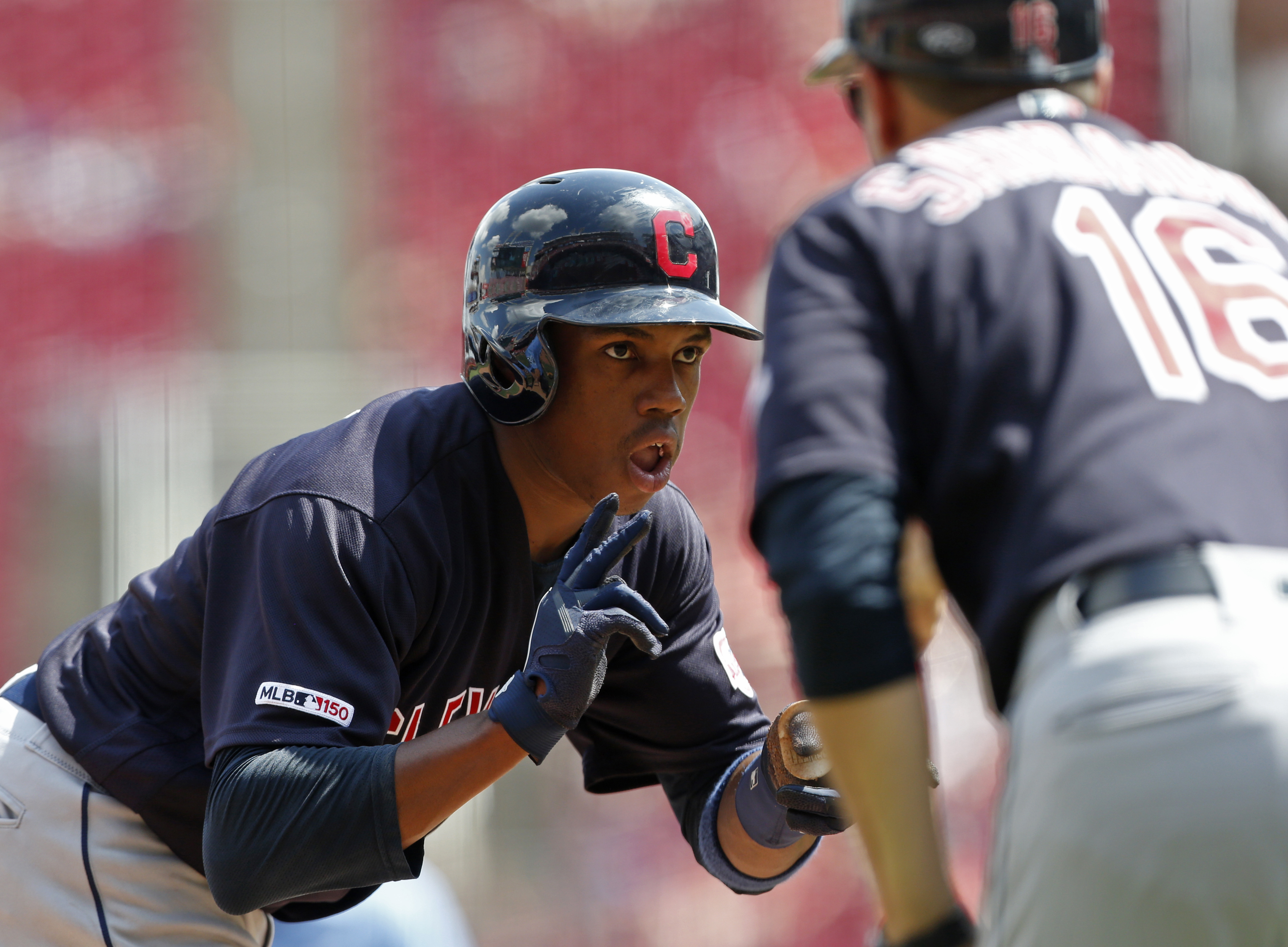 Allen leads Indians to 11-1 romp over Reds