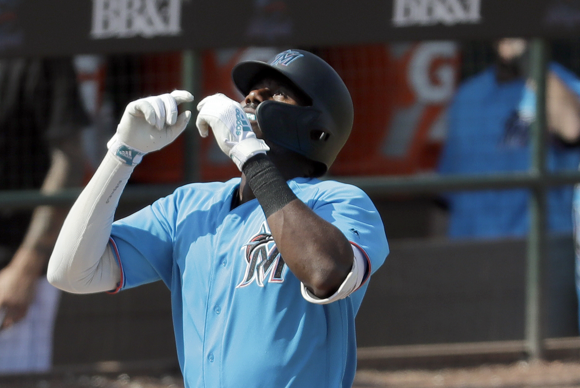 Marlins' Brinson expecting spring power to carry into season