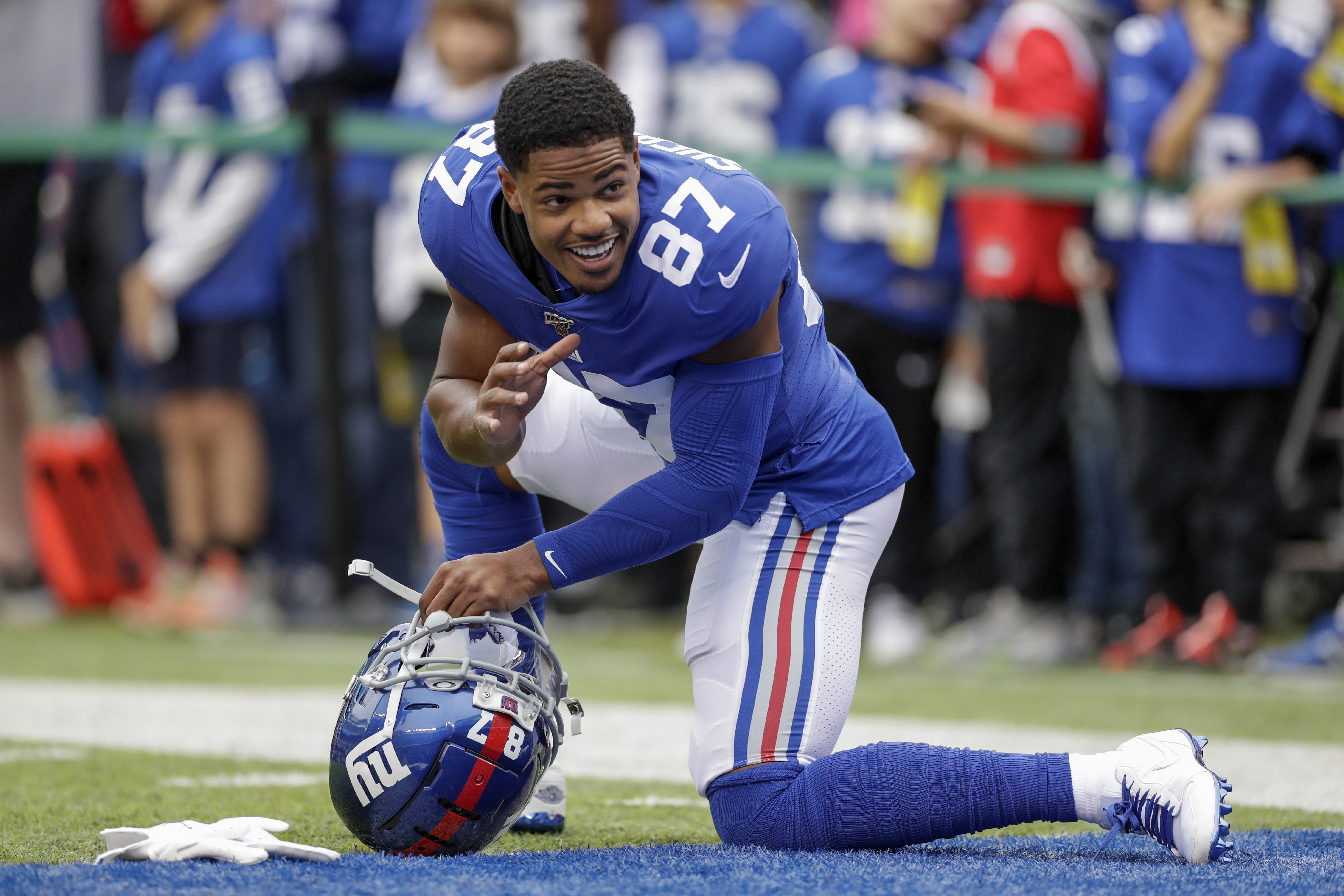 Giants put Shepard back in concussion protocol, out Monday