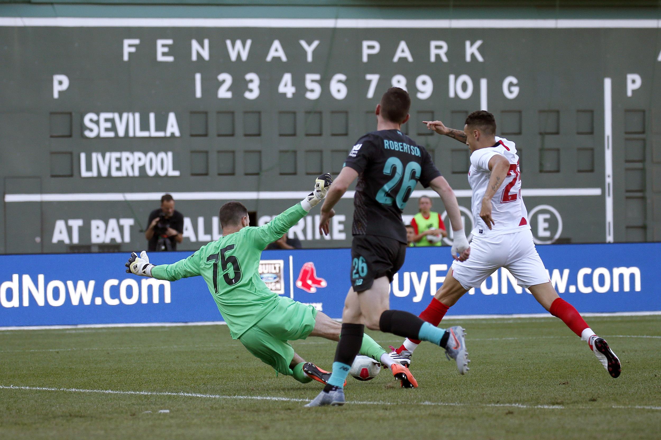 Sevilla beats Liverpool 2-1 in Fenway Park friendly