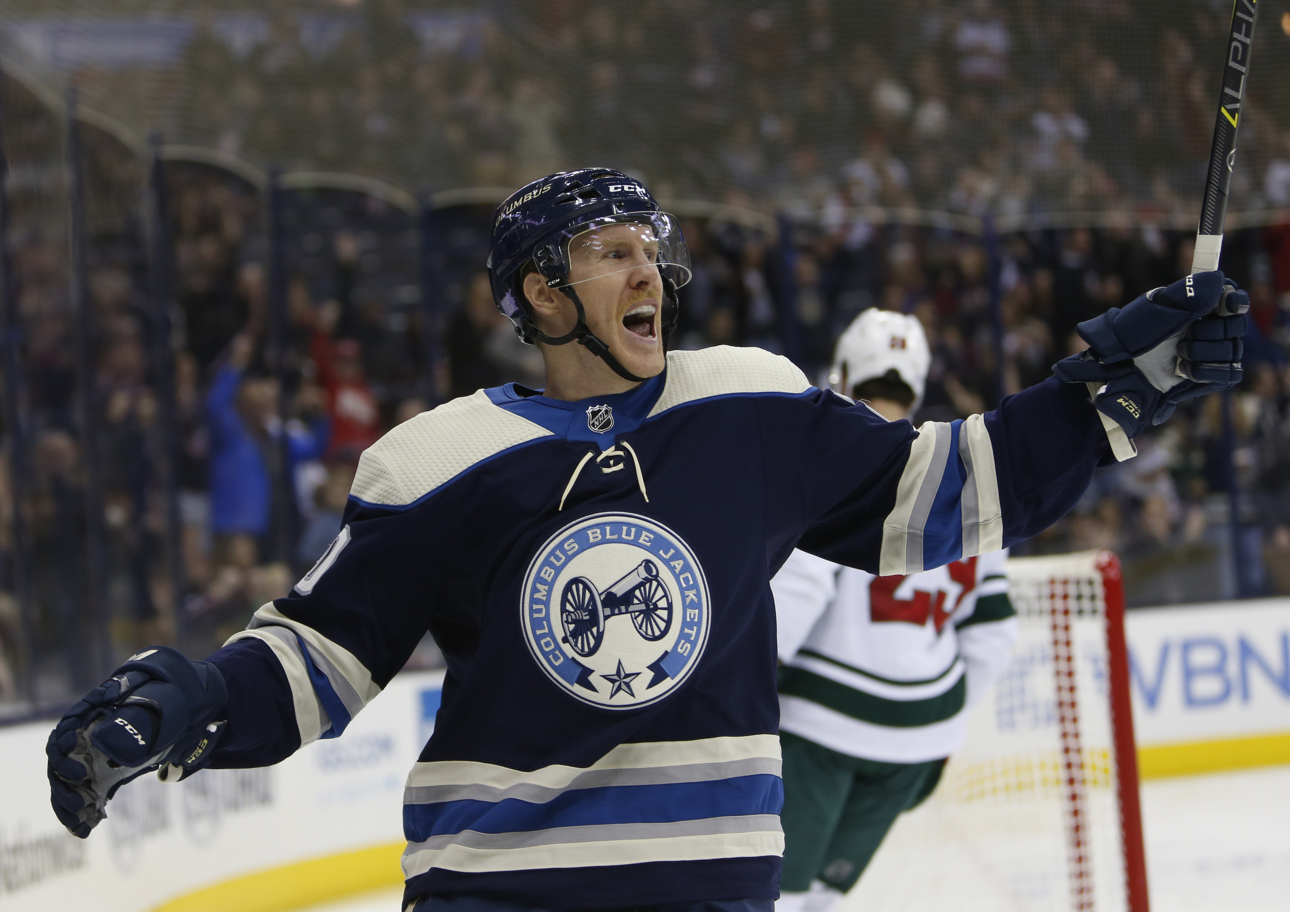 Nash notches goal and assist as Blue Jackets beat Wild 4-2