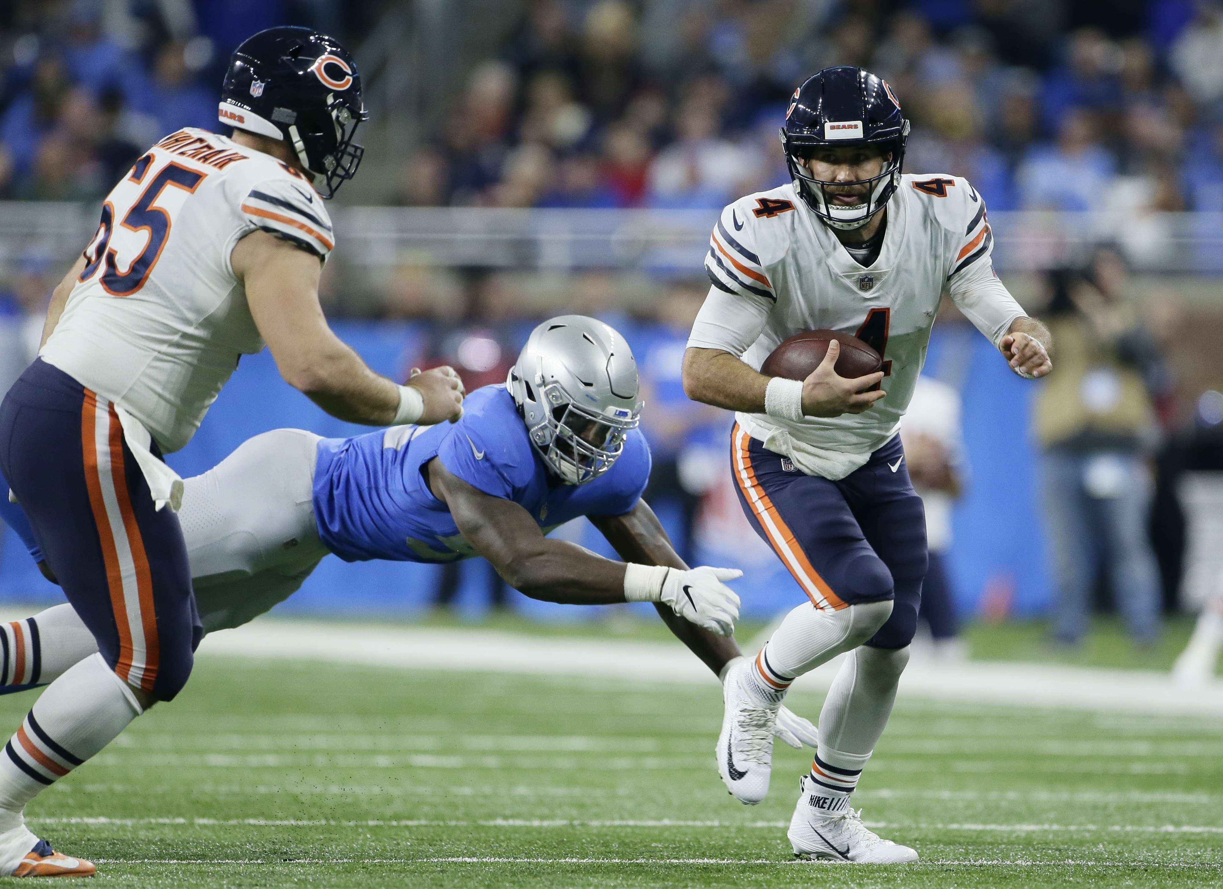 Chase Daniel works with Bears starters with Trubisky hurting