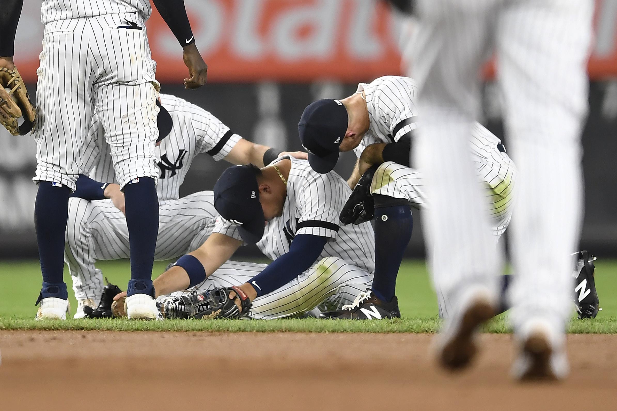Torres' hamstring MRI is negative; Yankees dodge scare