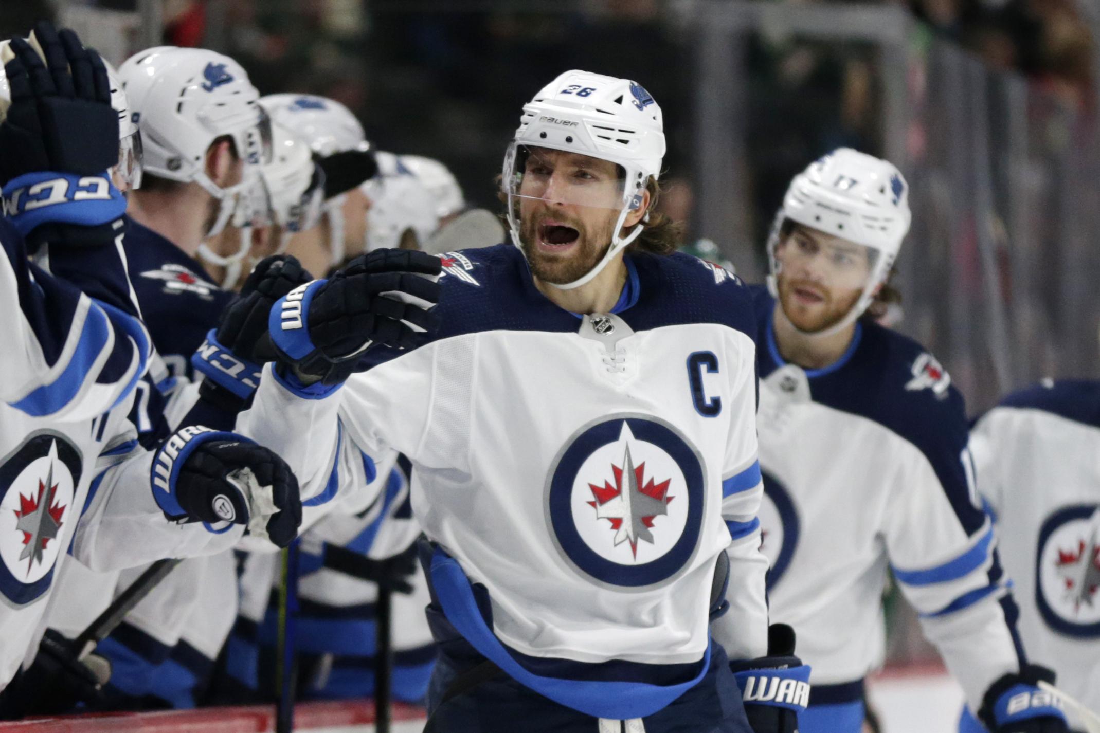 Wheeler becomes franchise scoring leader, Jets beat Wild 6-0
