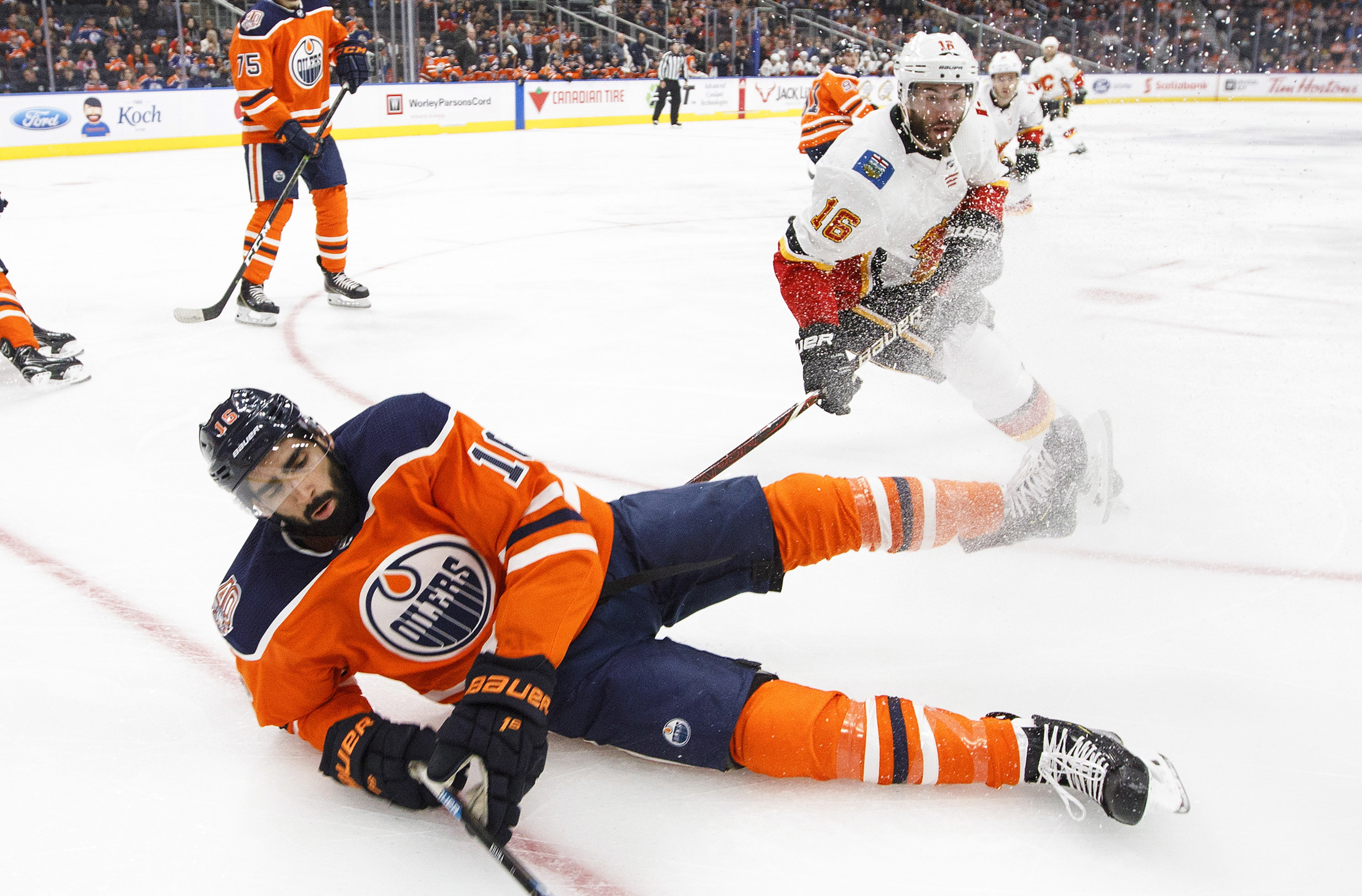 Yamamoto scores twice on 20th birthday, Oilers beat Flames