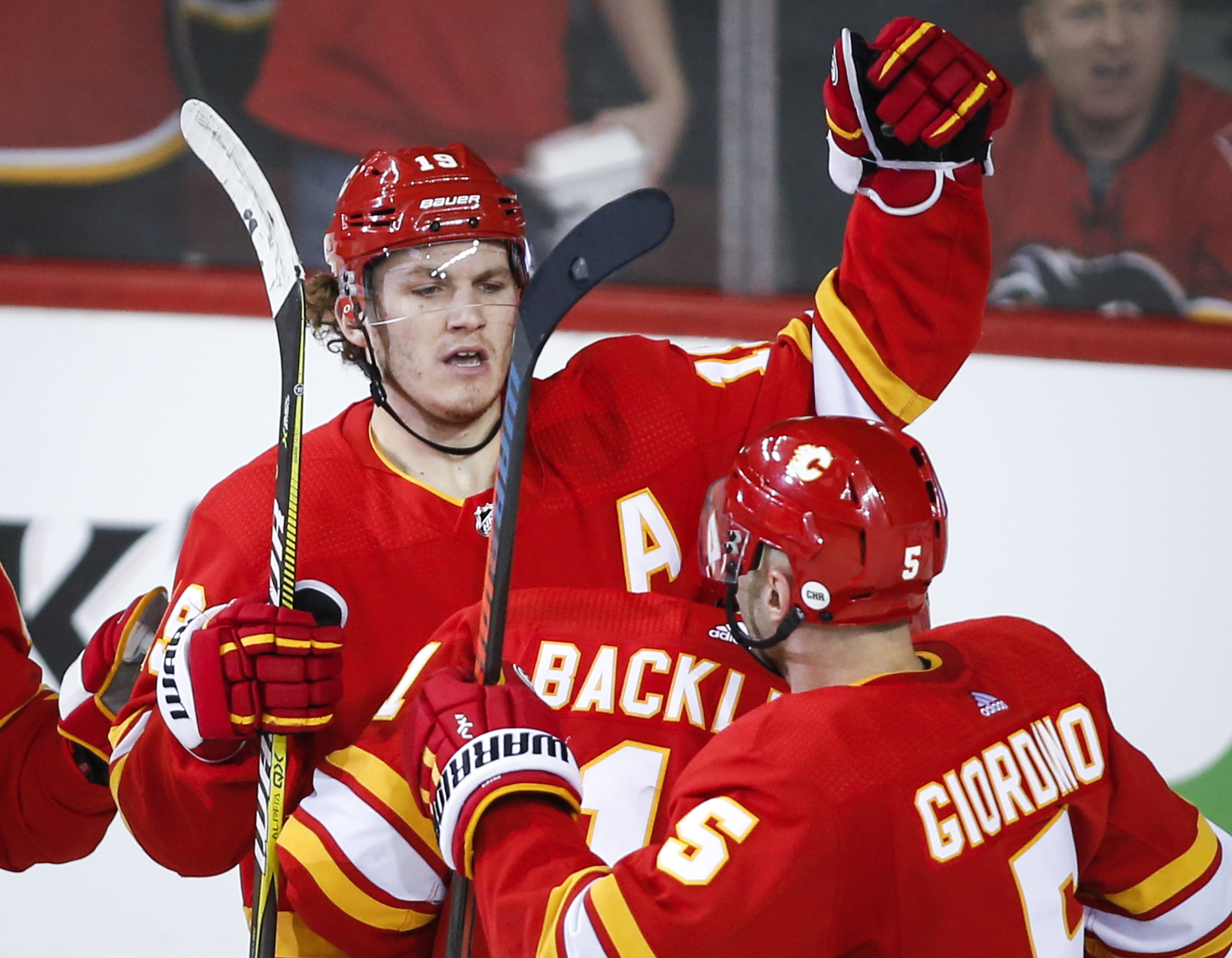 Tkachuk's 5-point game leads Flames past Rangers 5-1
