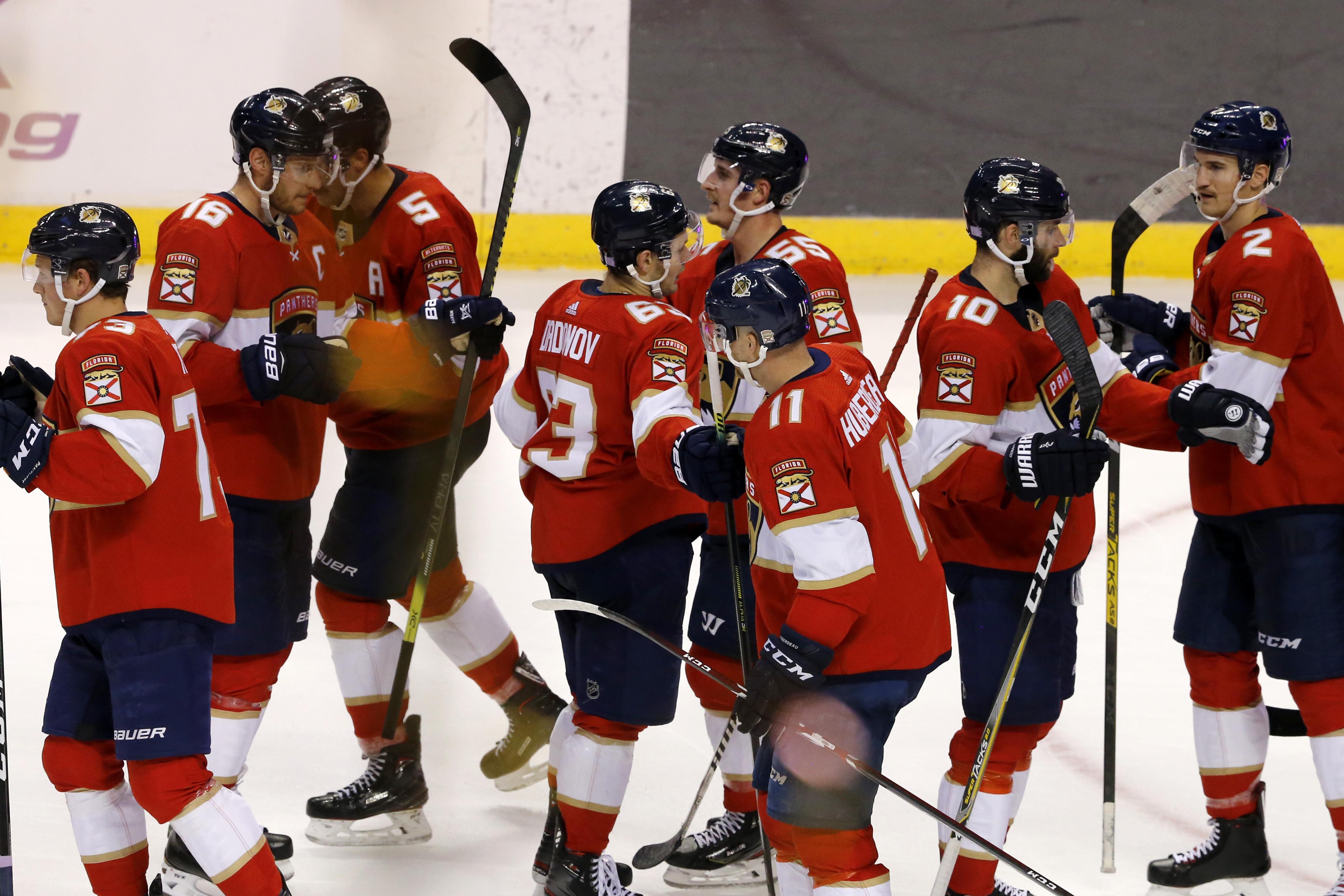 Dadonov scores 2 as Panthers beat Rangers 4-3