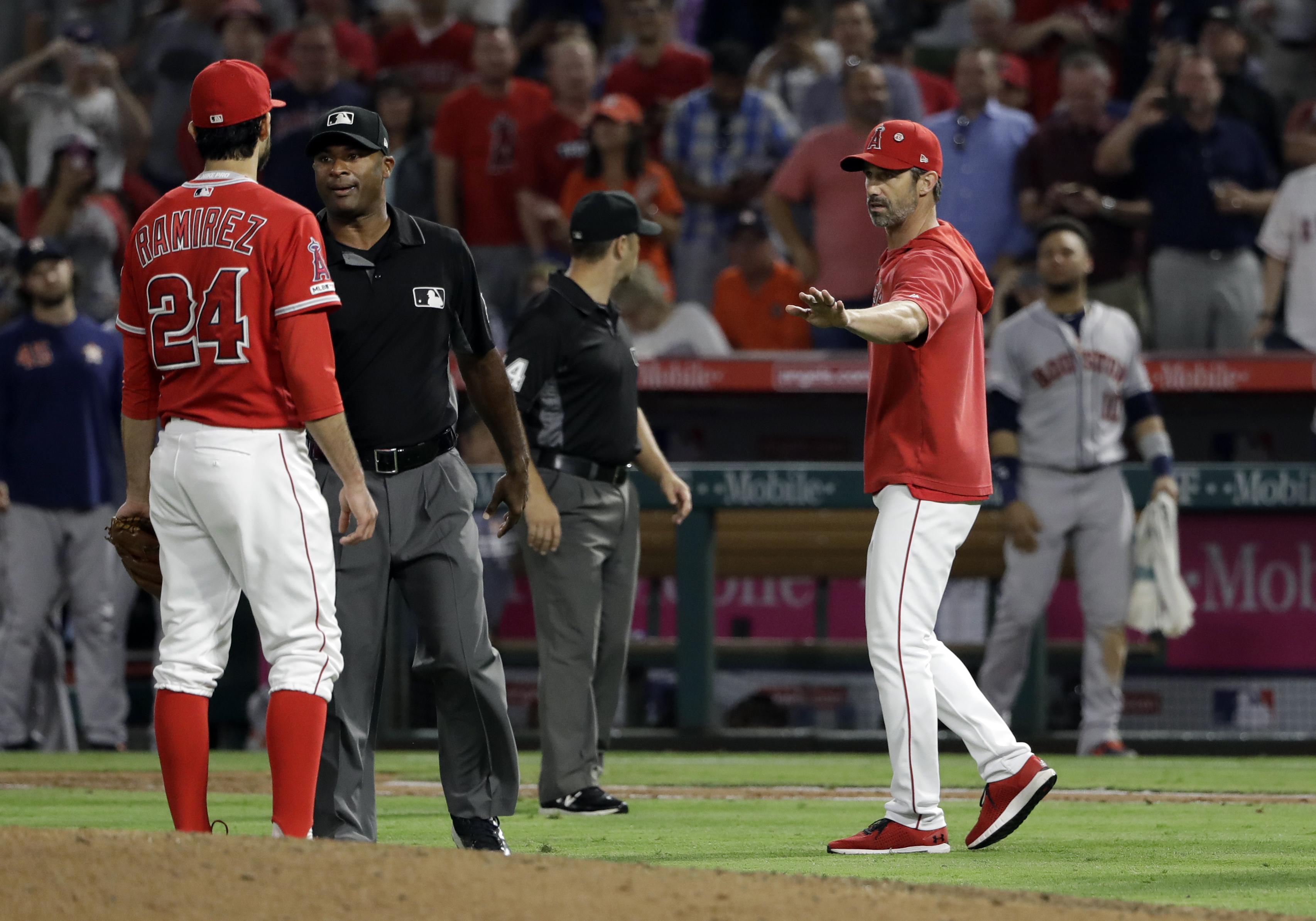 Angels pitcher Noé Ramirez suspended for 3 games
