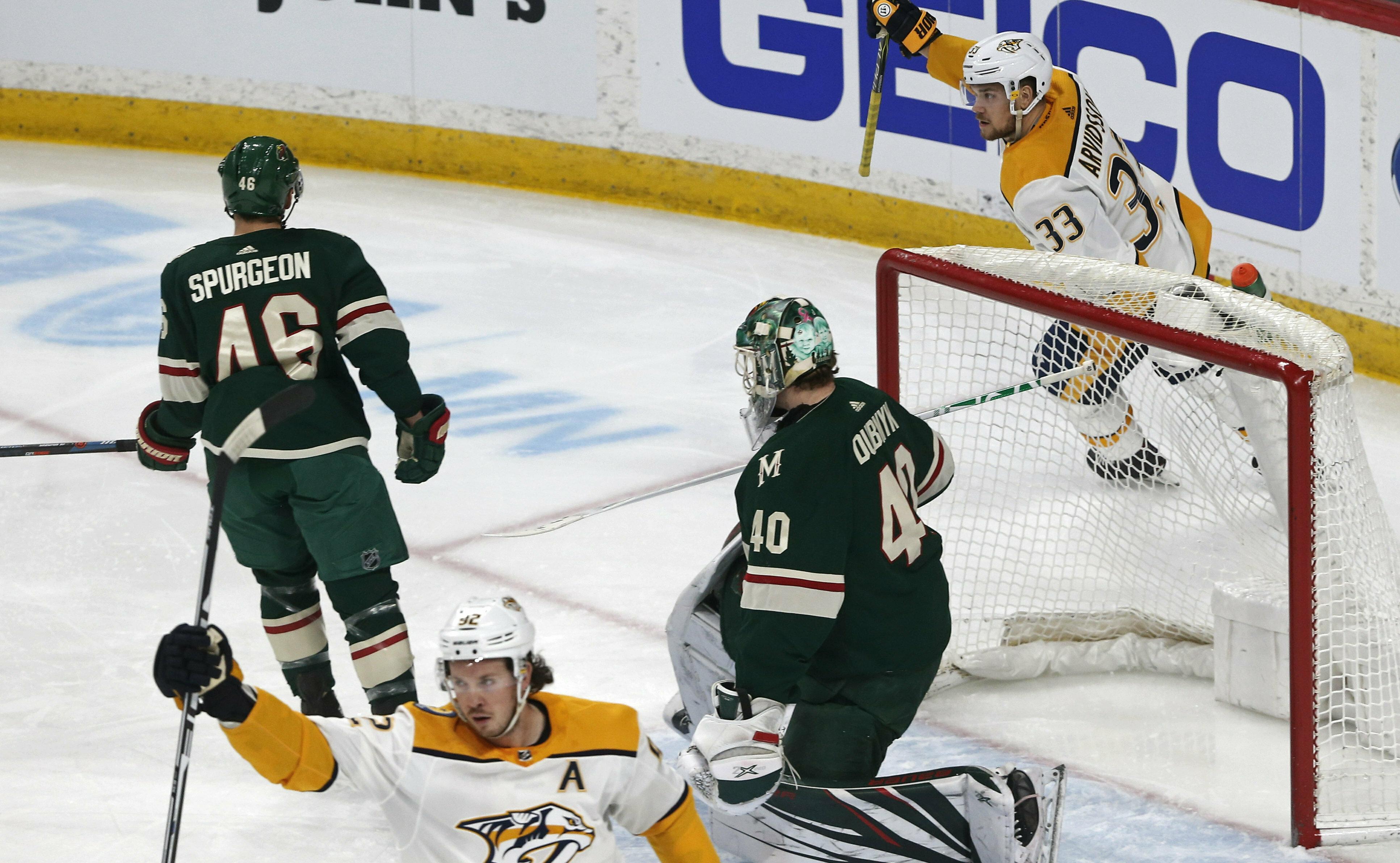 Saros' shutout lifts Predators over Wild 1-0