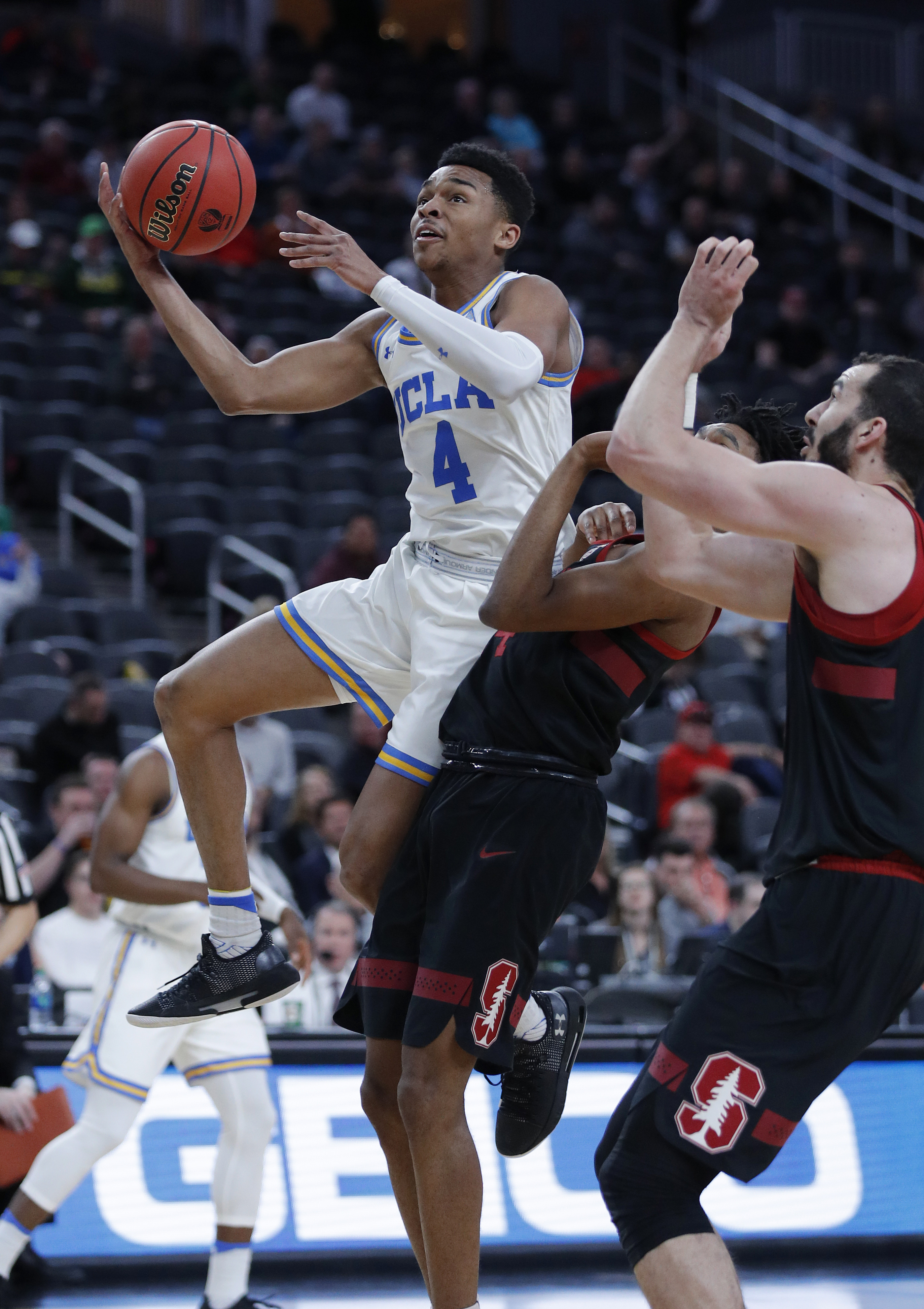 UCLA holds off Stanford 79-72 in Pac-12 tournament opener