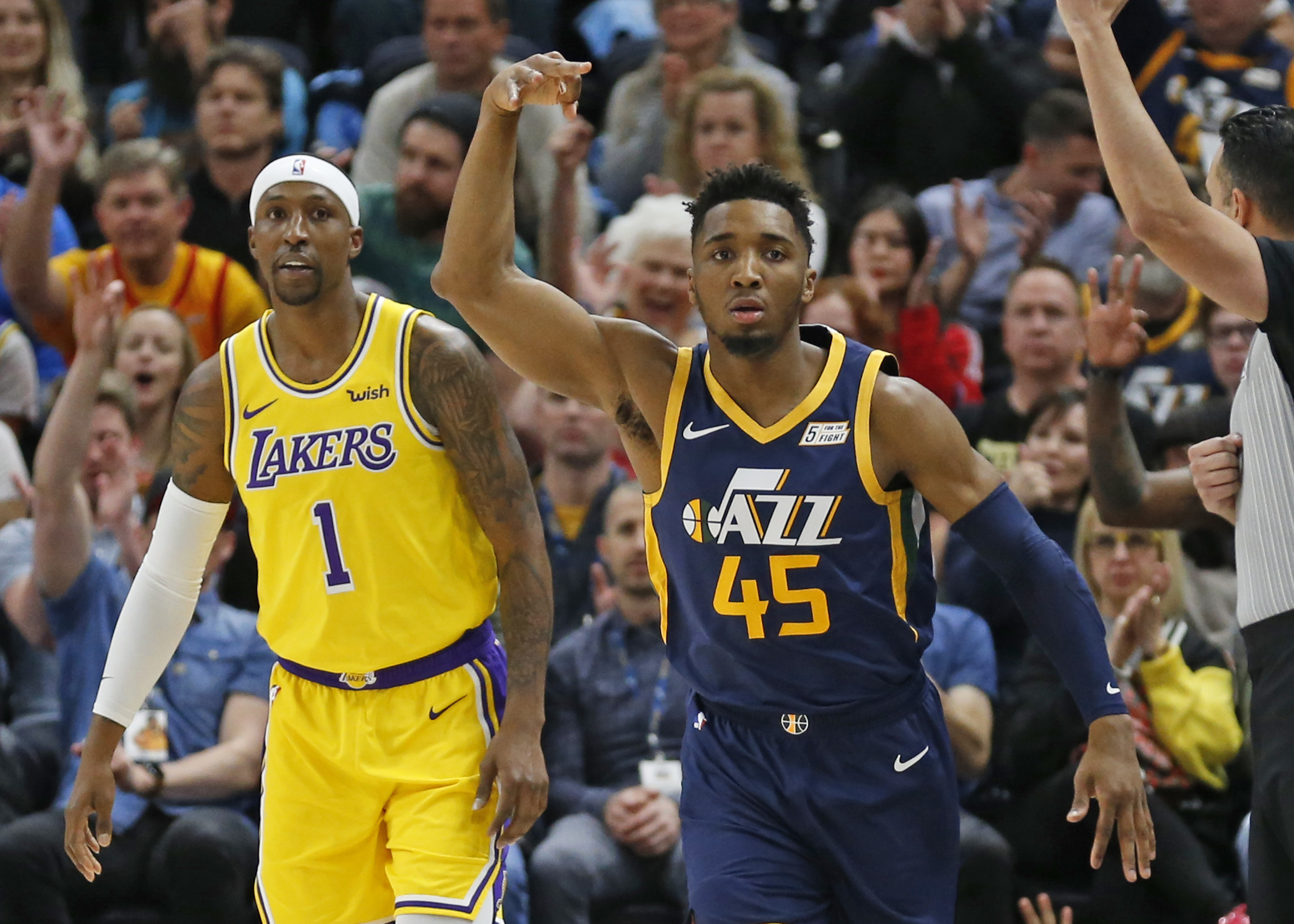 Gobert helps Jazz blow out Lakers 115-100 as LeBron sits