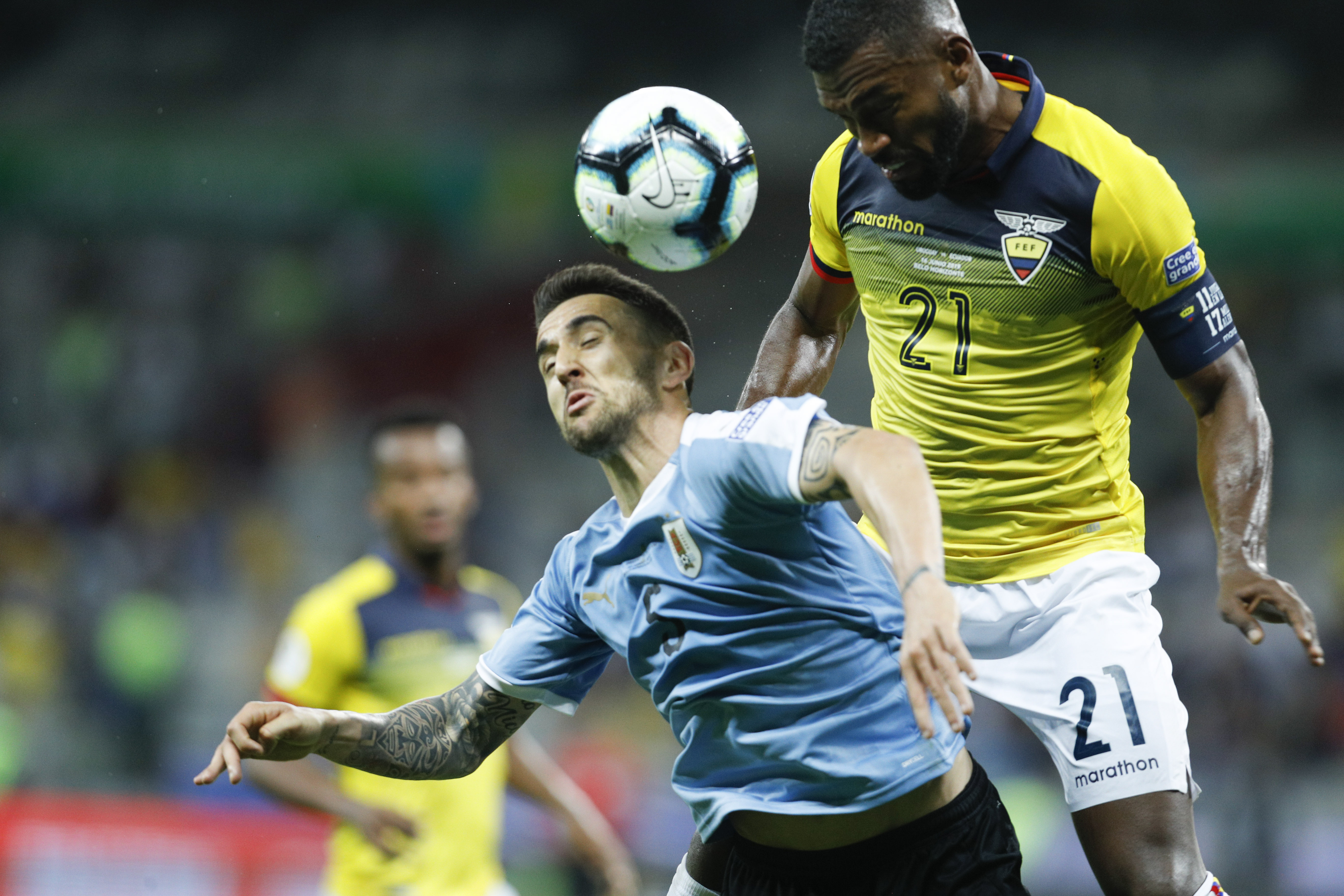 Uruguay's Vecino out of Copa America after thigh injury