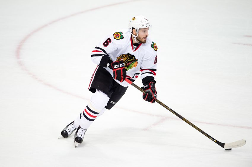 Chicago Blackhawks' Michal Kempny Returns, Corey Crawford Skates