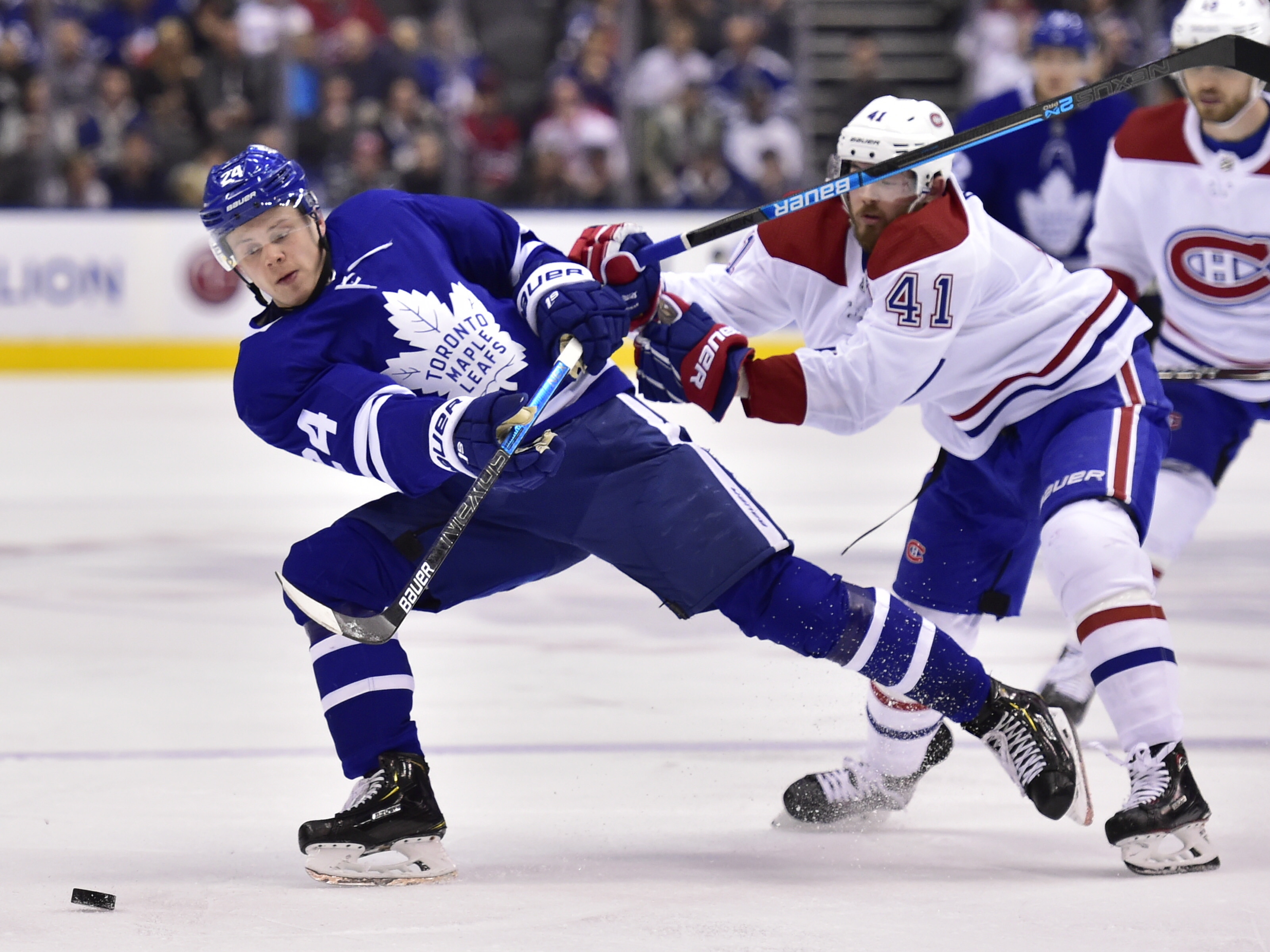 Hyman scores twice, Maple Leafs rally to beat Canadiens 6-3