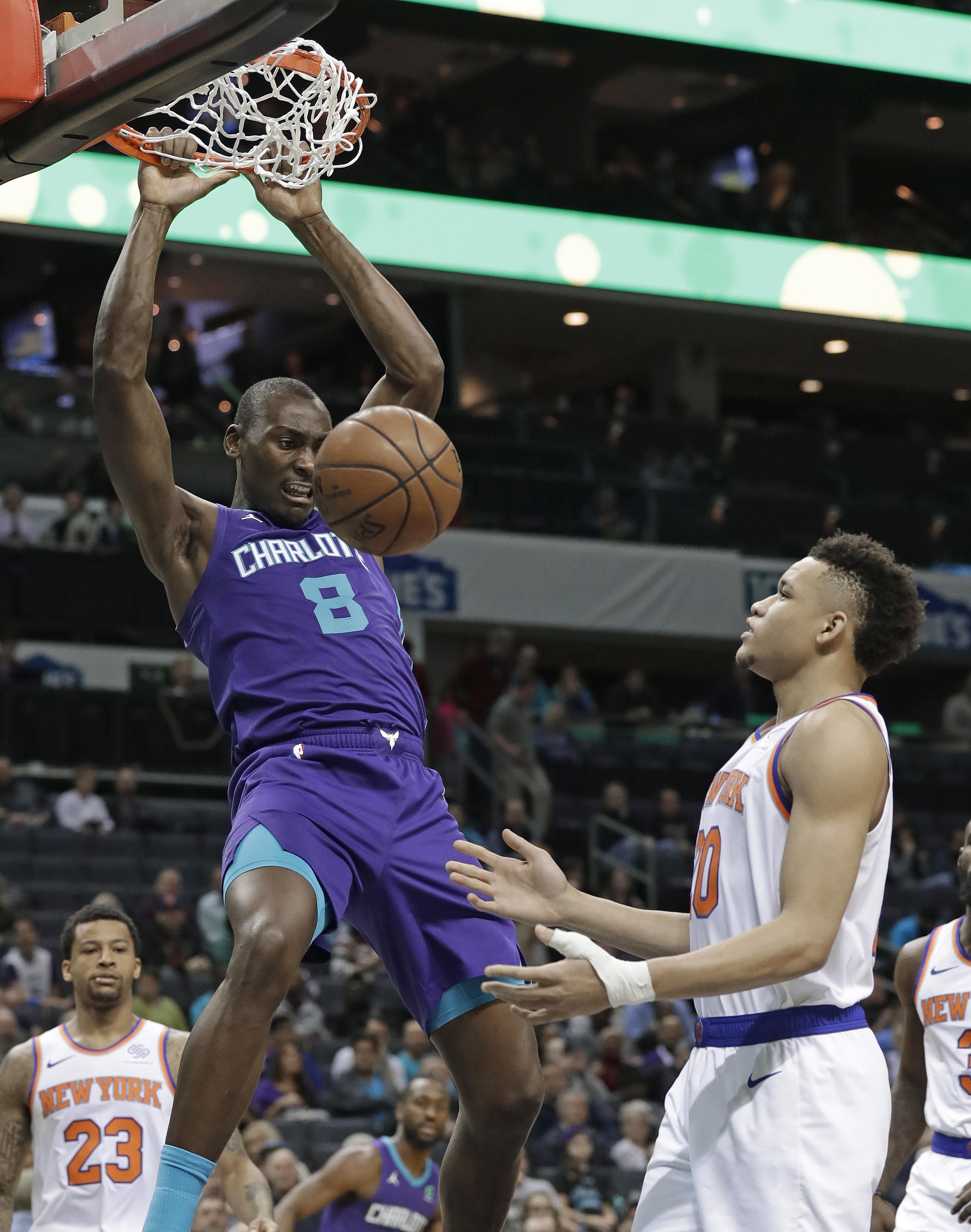 Monk's big fourth quarter lifts Hornets past Knicks 101-92