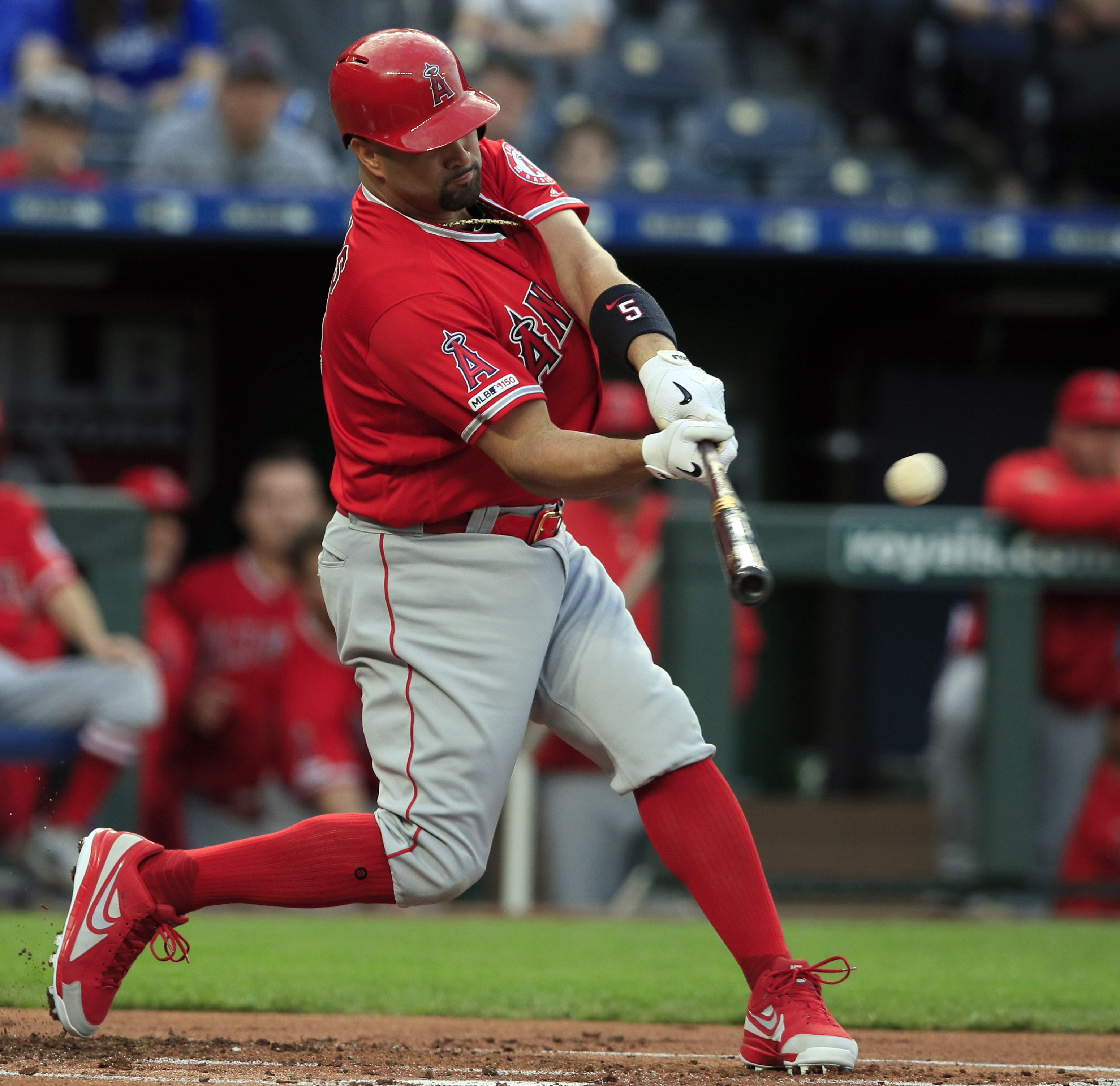 Pujols passes Gehrig for career RBIs; Angels top Royals 5-1