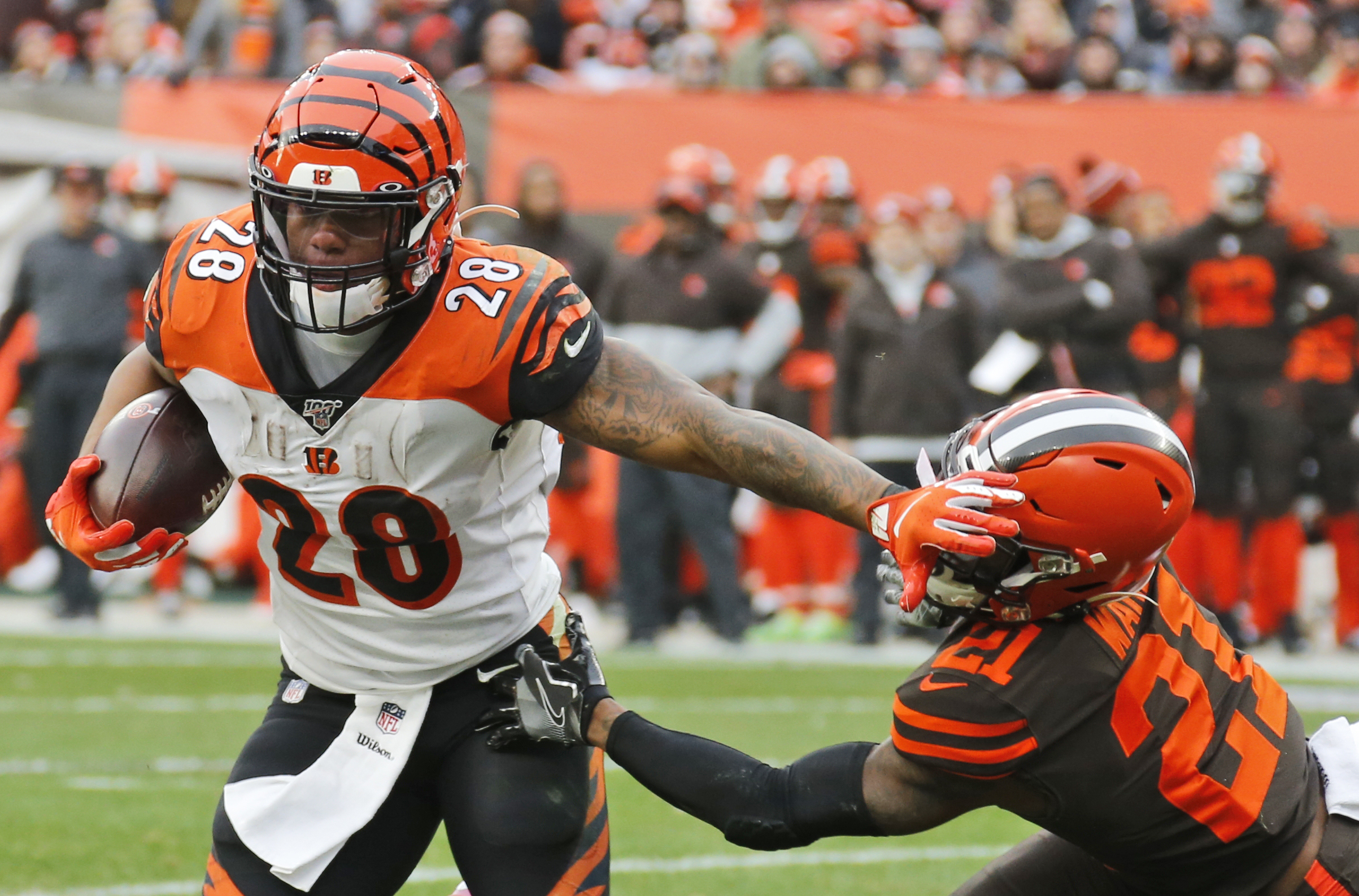 Bengals' Mixon enjoying resurgence as Patriots await