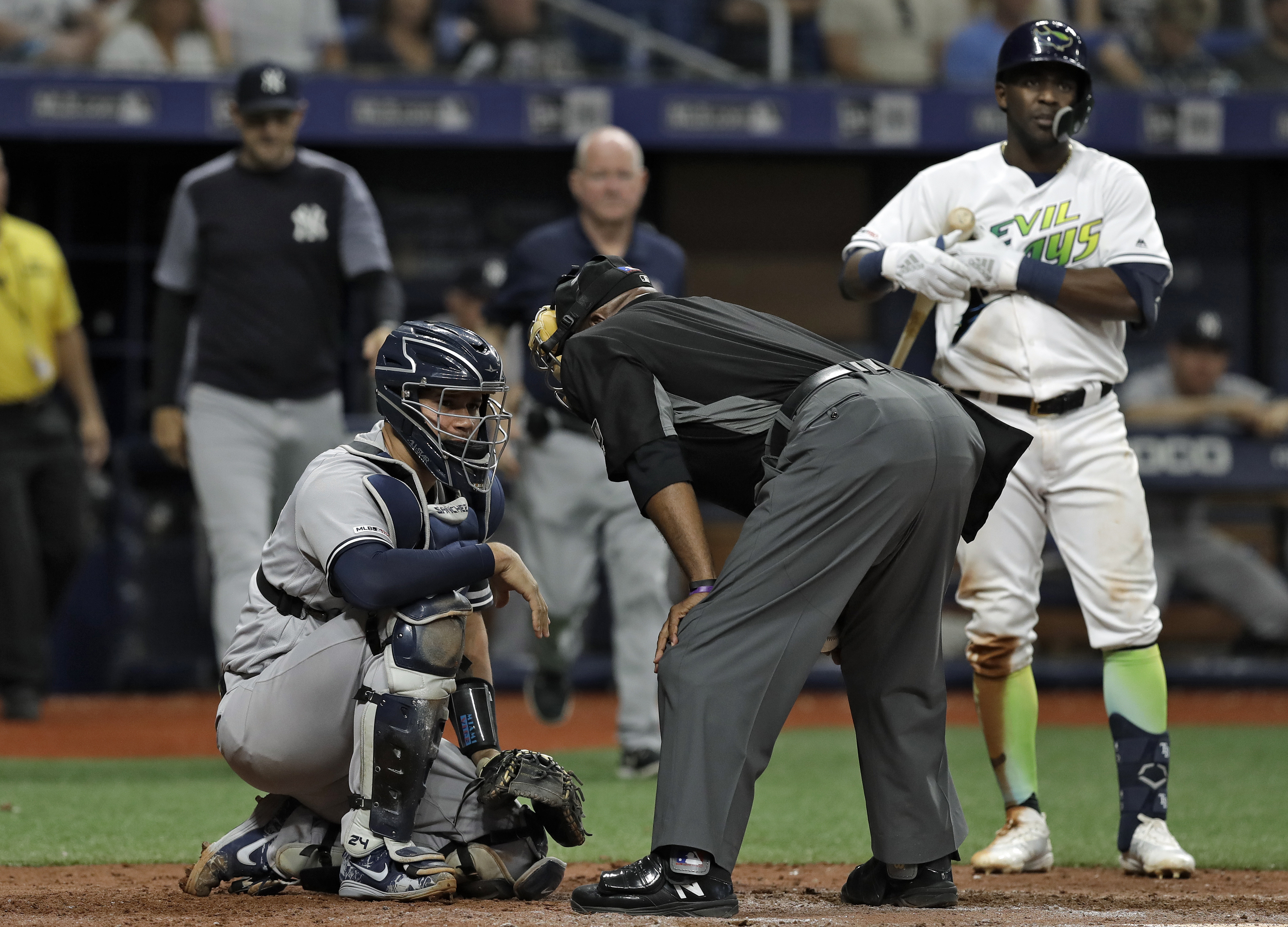 Yankees give nicked up Sanchez and Torres day off