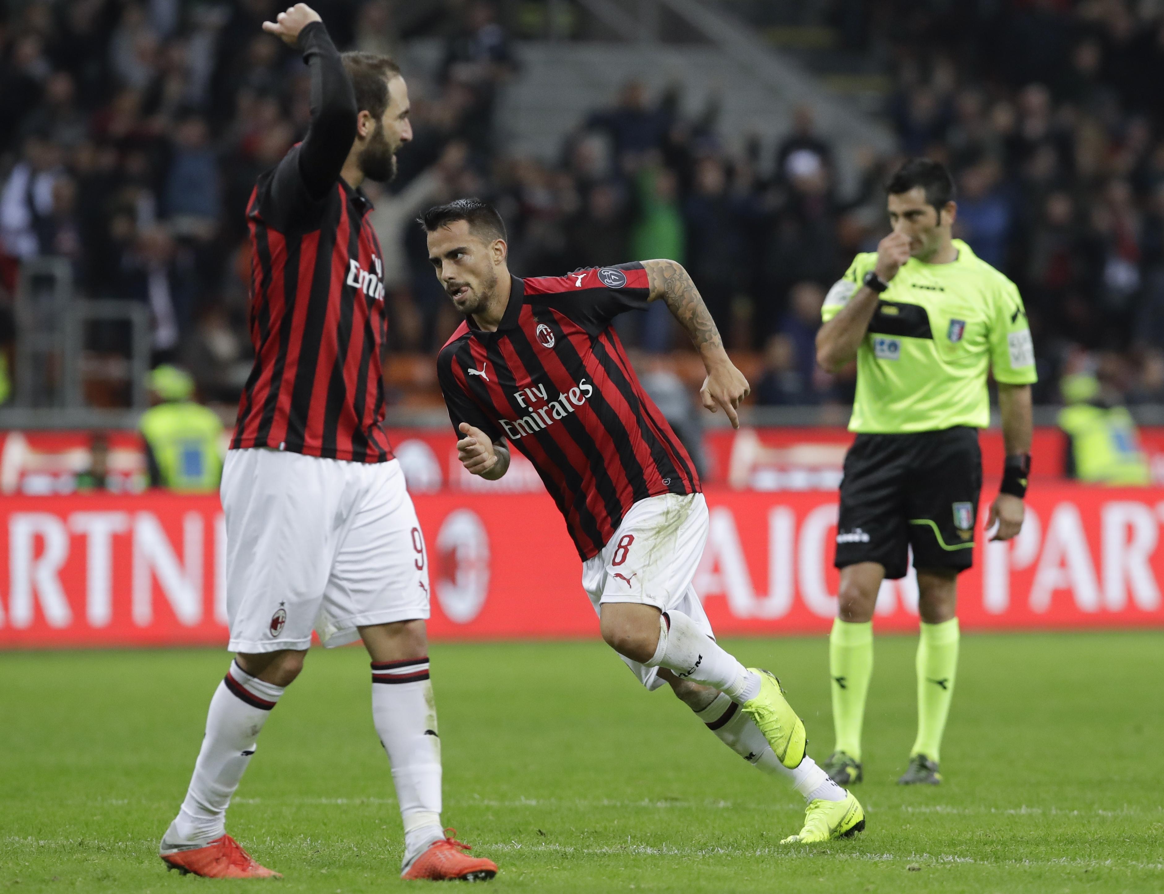 Suso's stunning strike gives AC Milan 3-2 win over Sampdoria