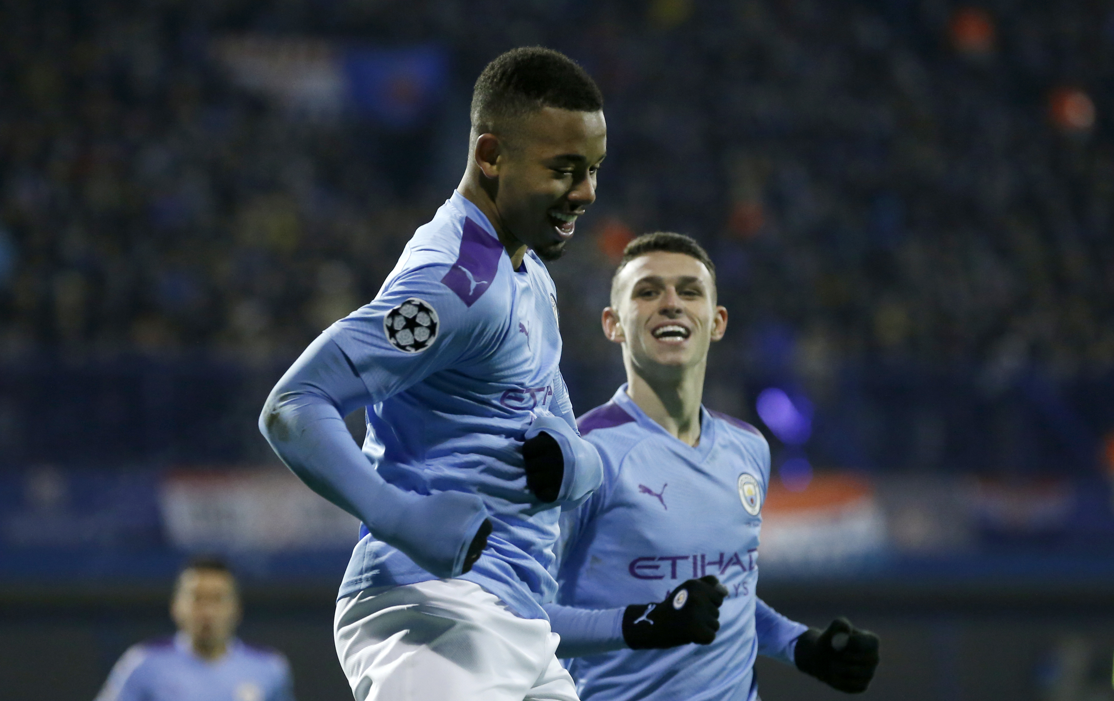 Jesus nets hat trick as Man City eliminates Dinamo in CL