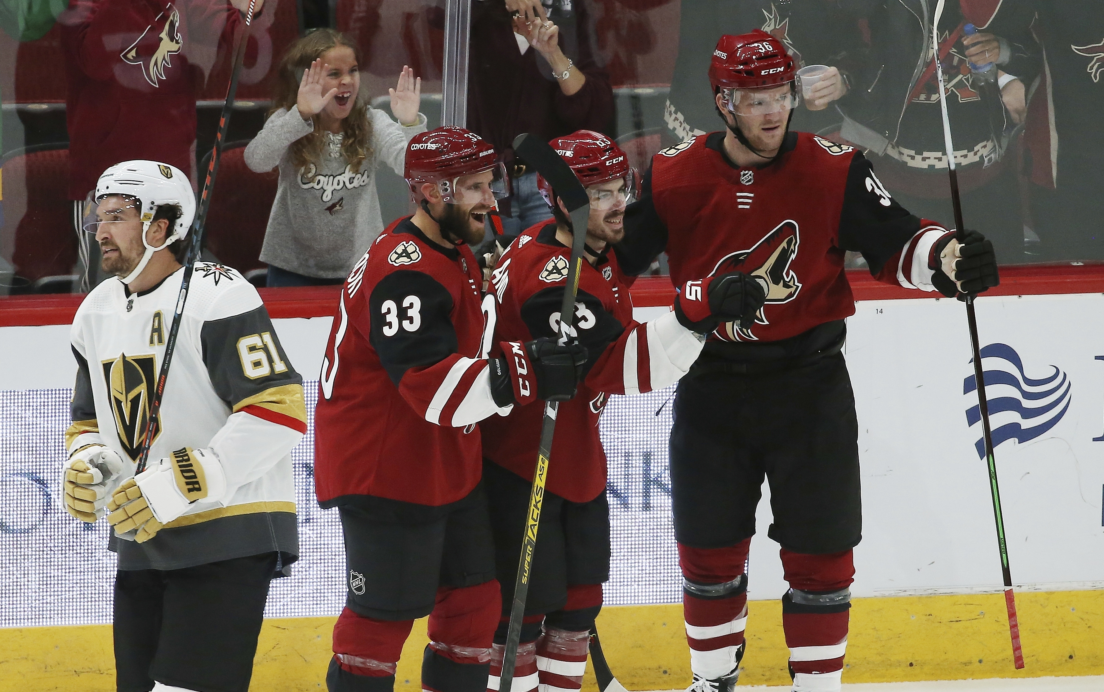 Garland scores twice, Coyotes top Vegas 4-1 for 1st win