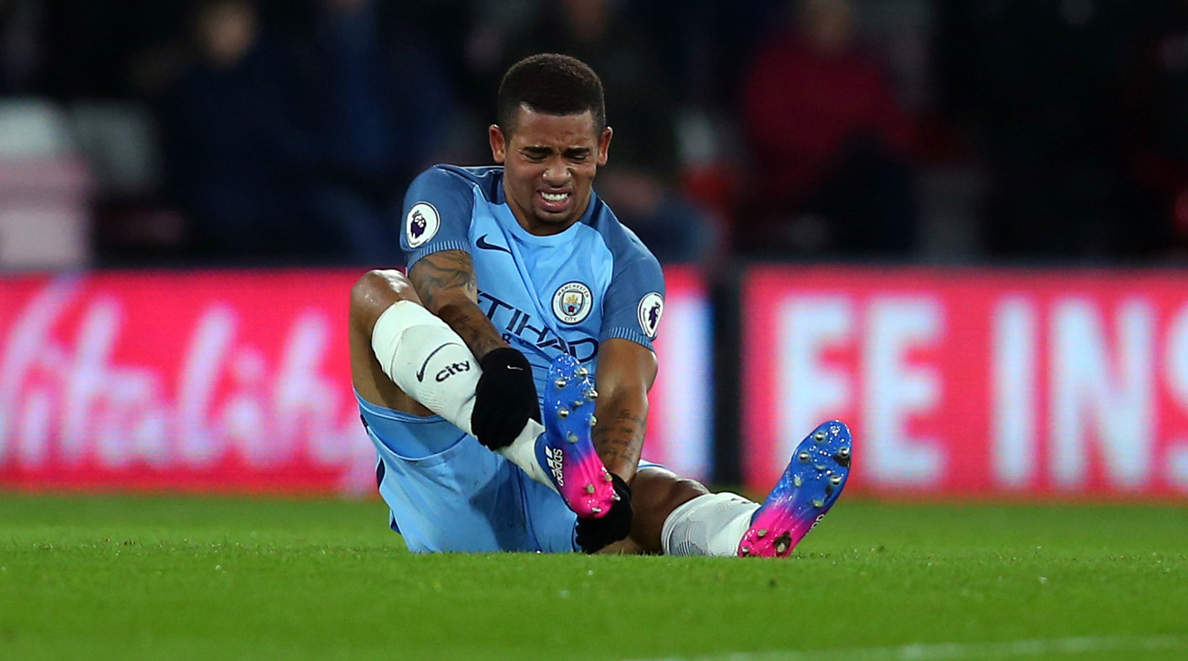 Manchester City's Gabriel Jesus suffers fractured metatarsal