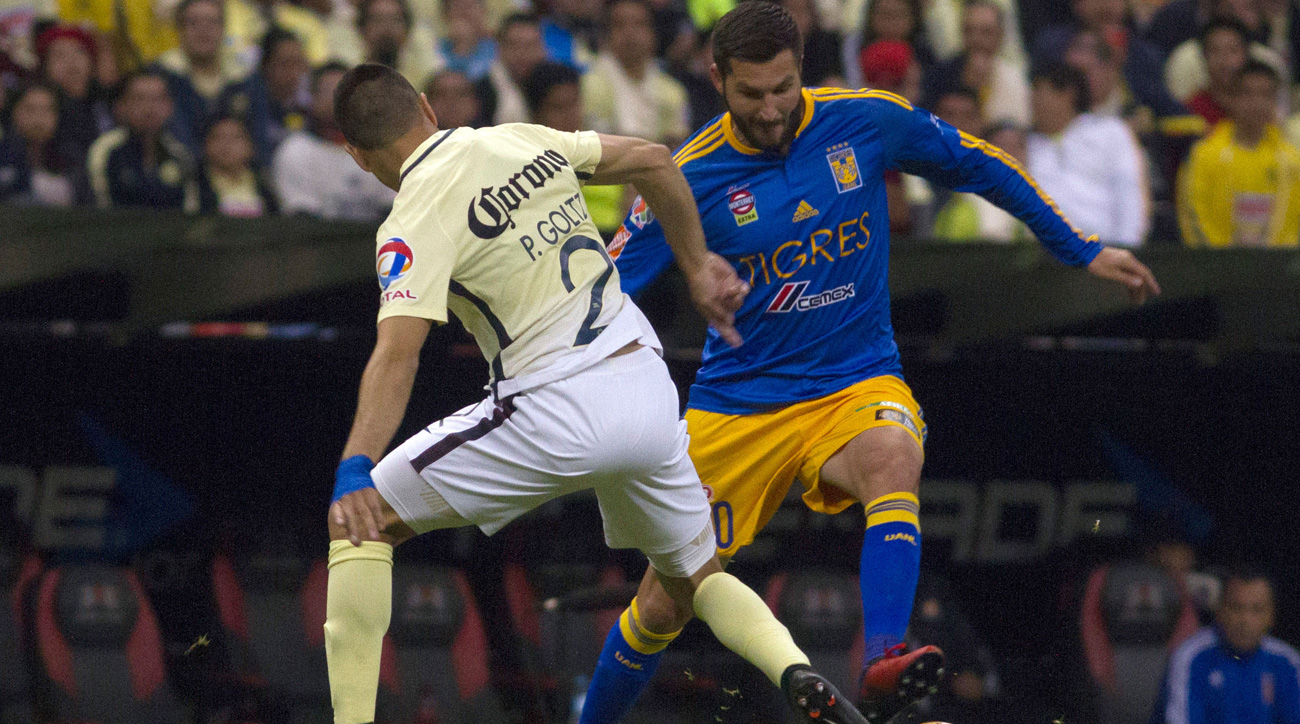 America draws Tigres UANL in Liga MX final first leg; Gignac injured