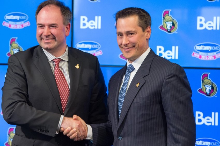 How were the 2016-17 Ottawa Senators forwards constructed?