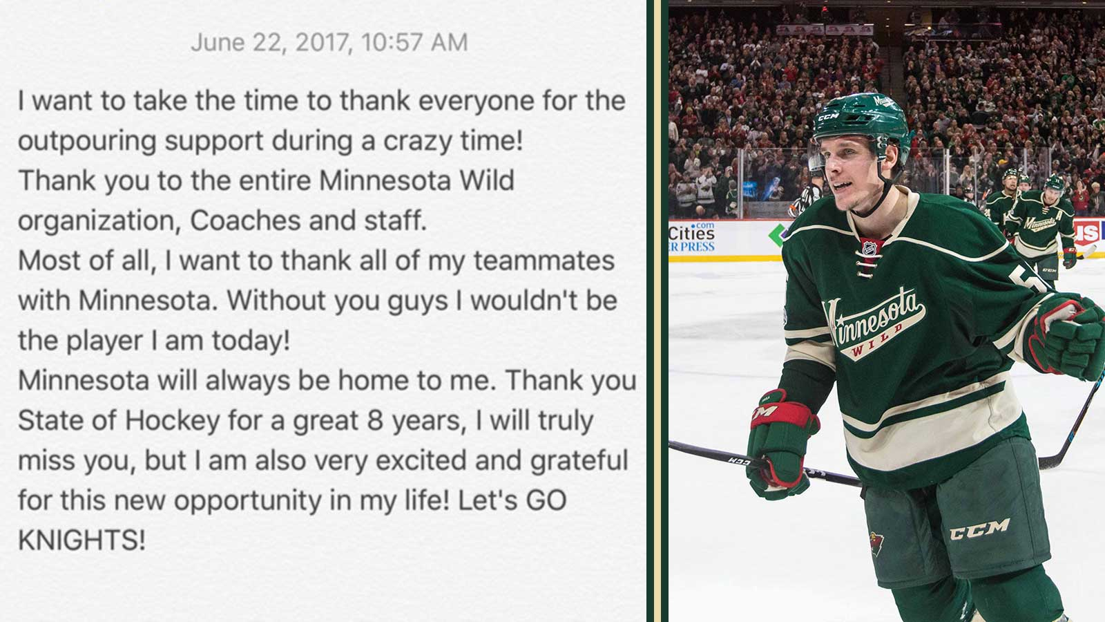 Top Tweets: Haula says goodbye to State of Hockey