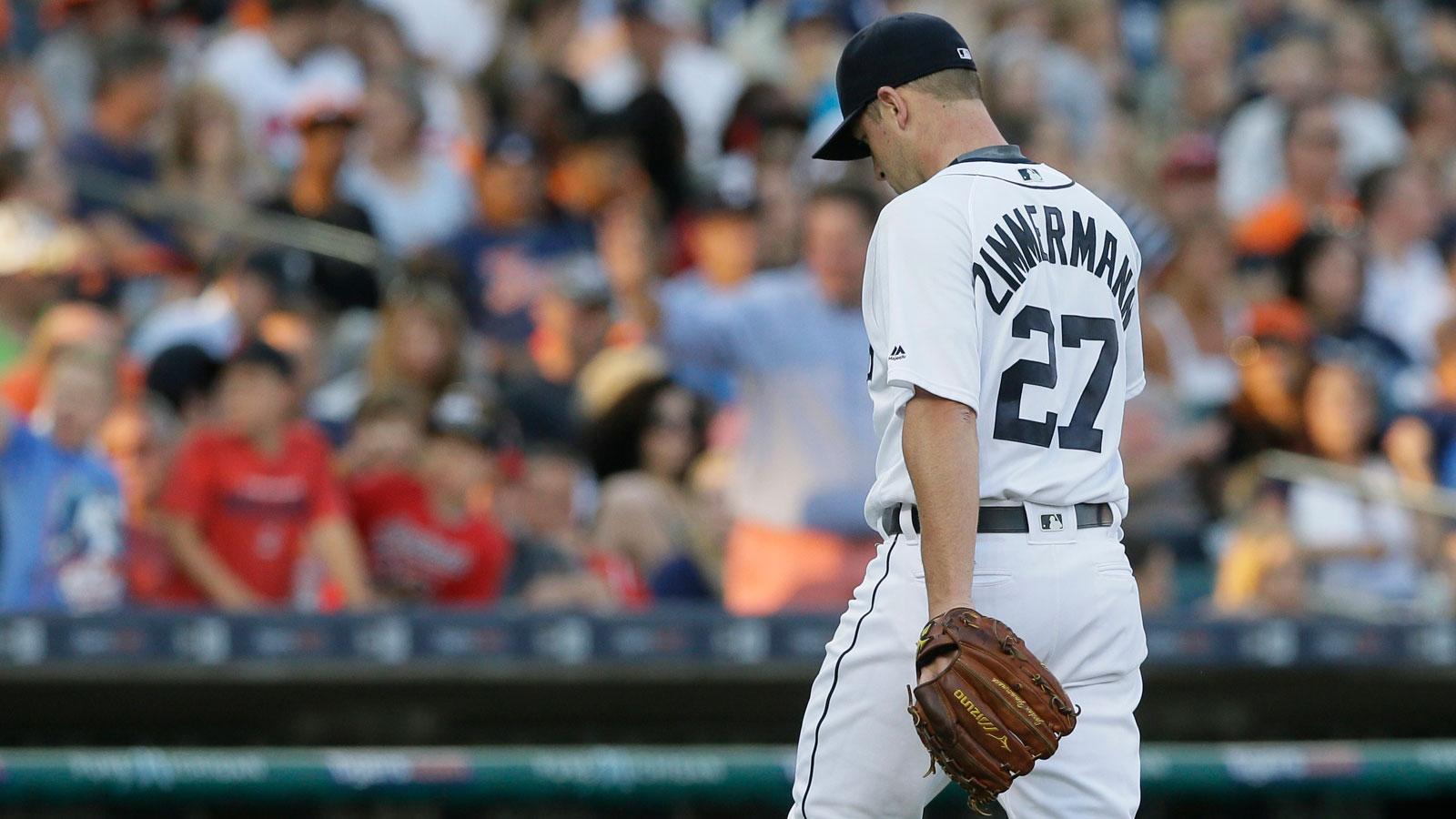 Detroit's Zimmermann headed back to DL