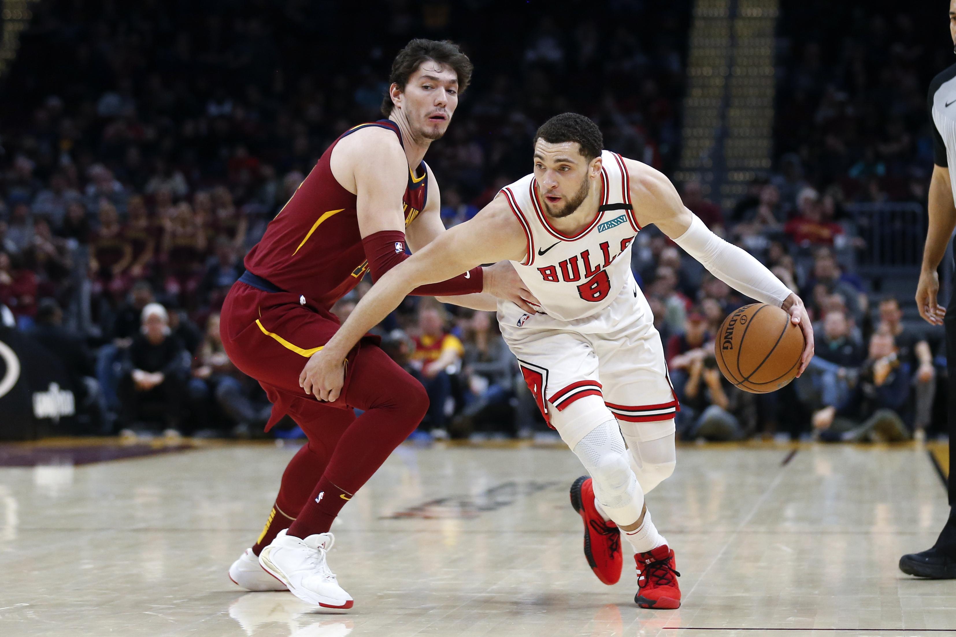 Zach LaVine scores 44 as Bulls beat Cavaliers 118-106