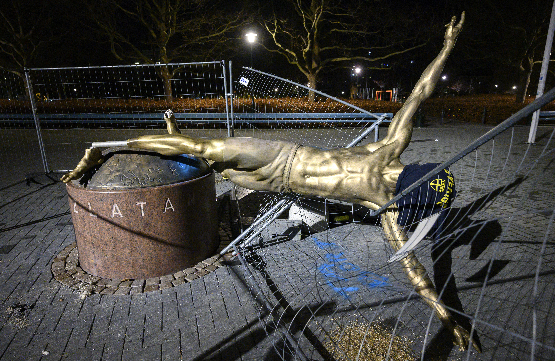 Ibrahimovic statue to remain in Malmo despite vandalism