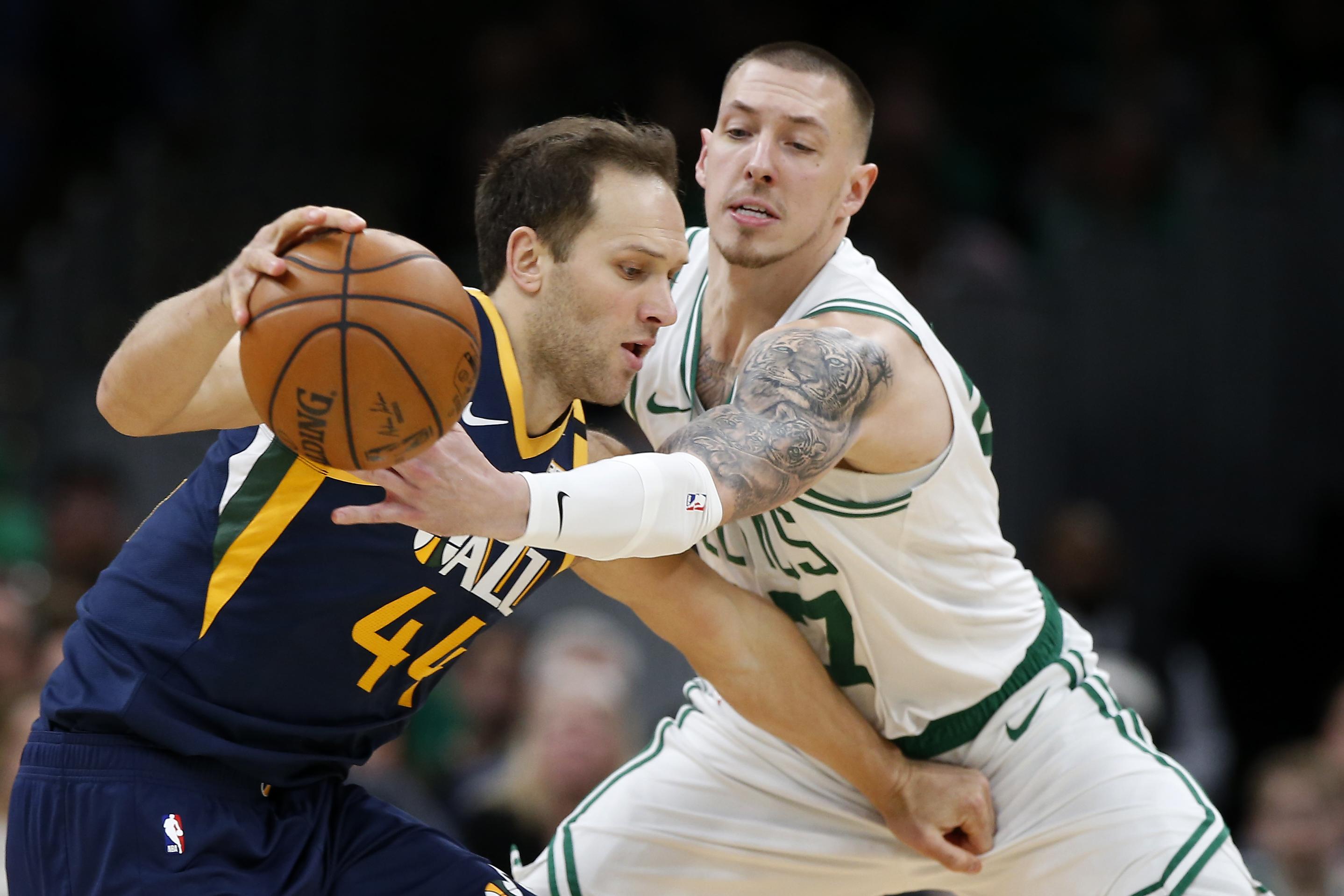 Mike Conley scores 25 points, Jazz beat Celtics 99-94