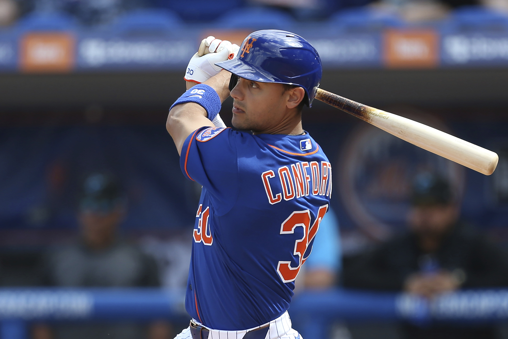 Mets' Conforto strains oblique muscle, opening day not clear