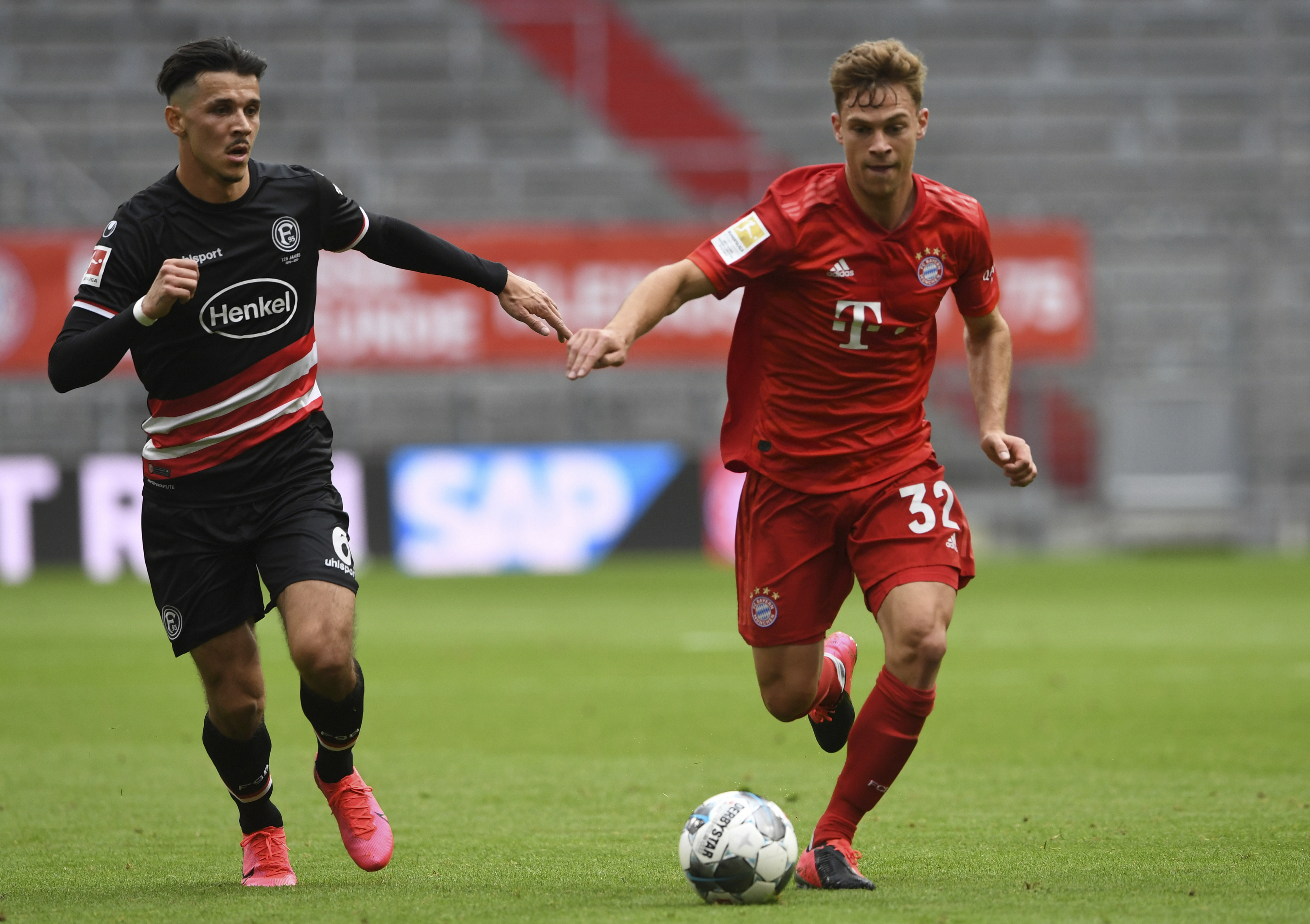 Bayern's Kimmich less emotional but calmer in fan-free games