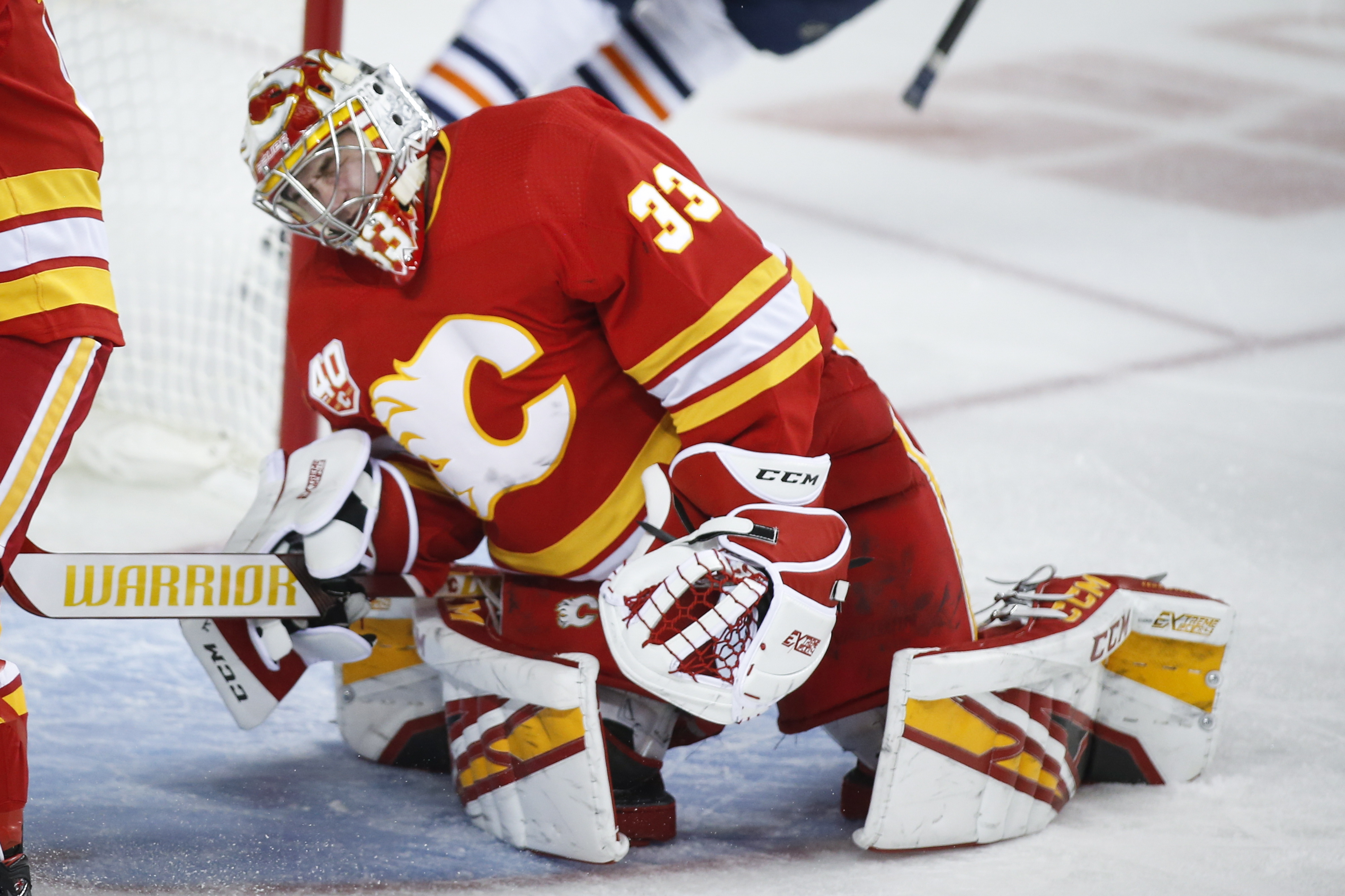 Oilers top Flames 8-3; goalies Mike Smith, Cam Talbot fight