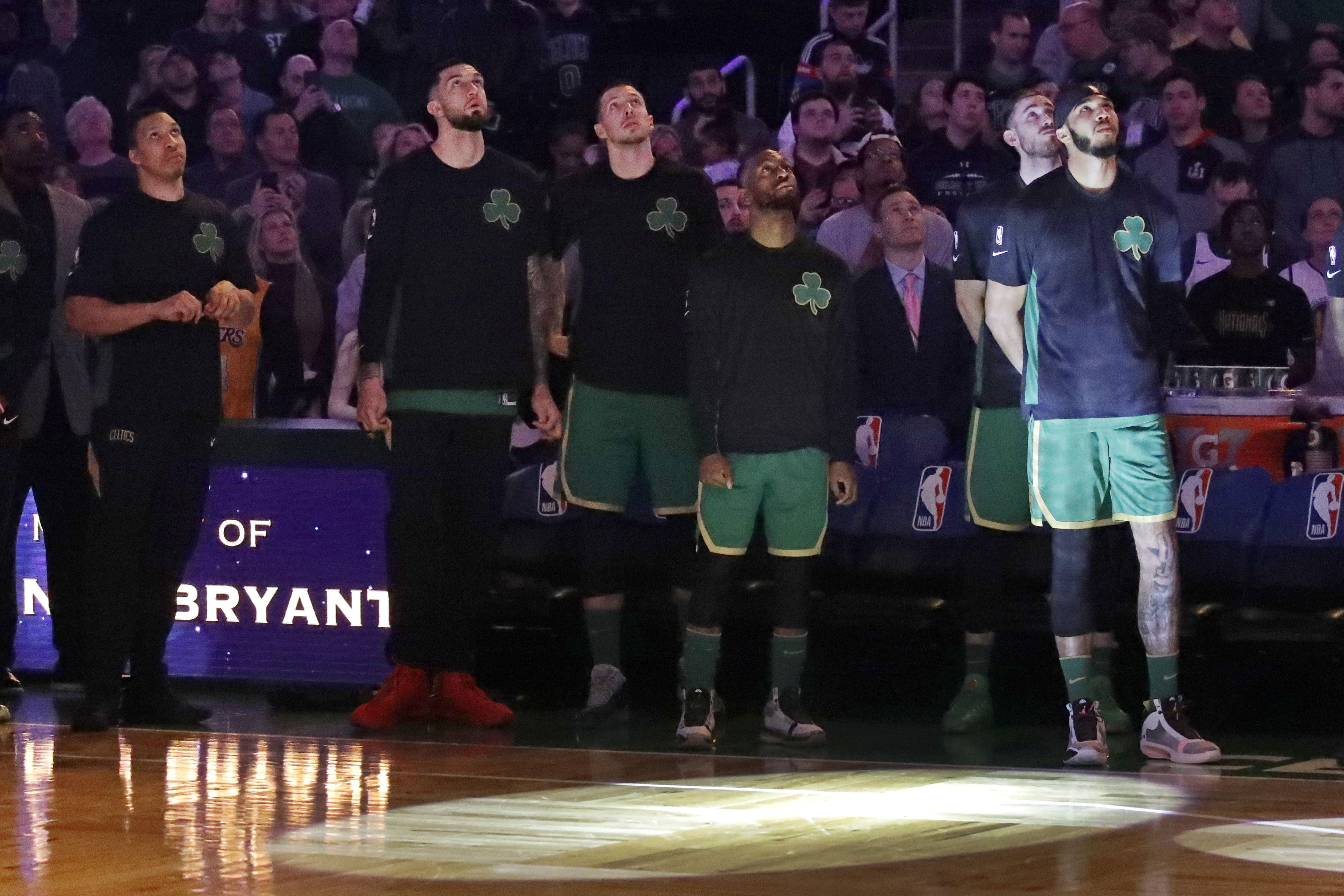 Celtics honor Kobe, run past struggling Warriors 119-104