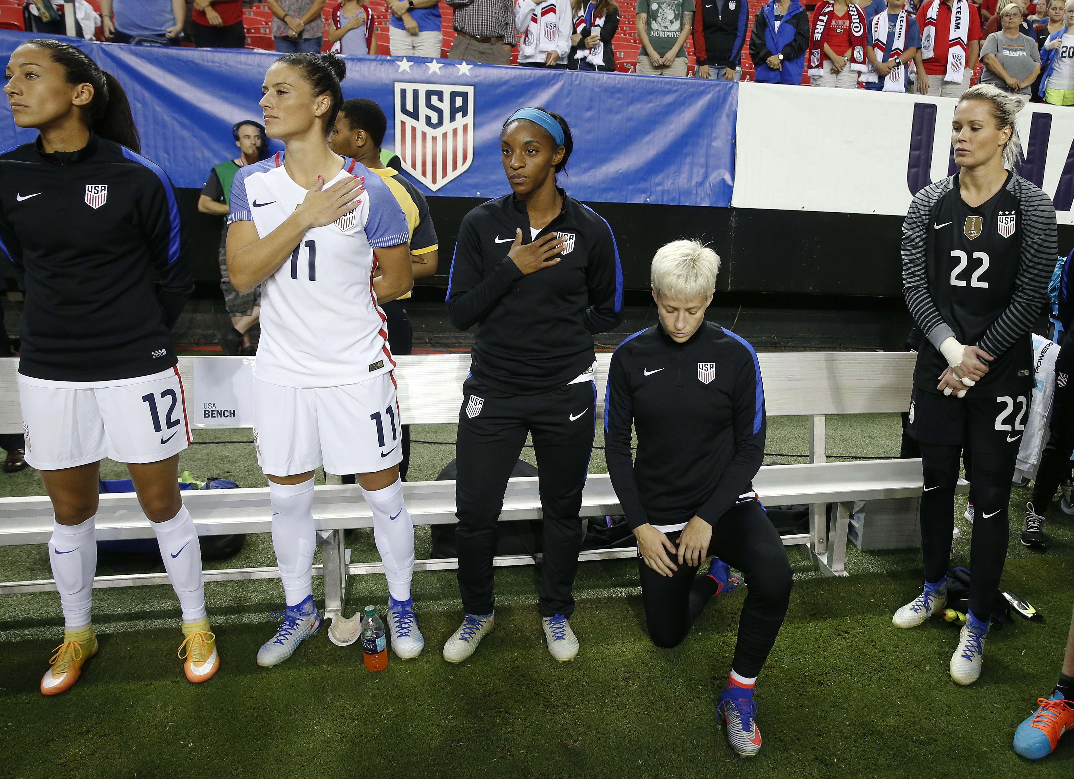 US Soccer repeals rule that banned kneeling during anthem