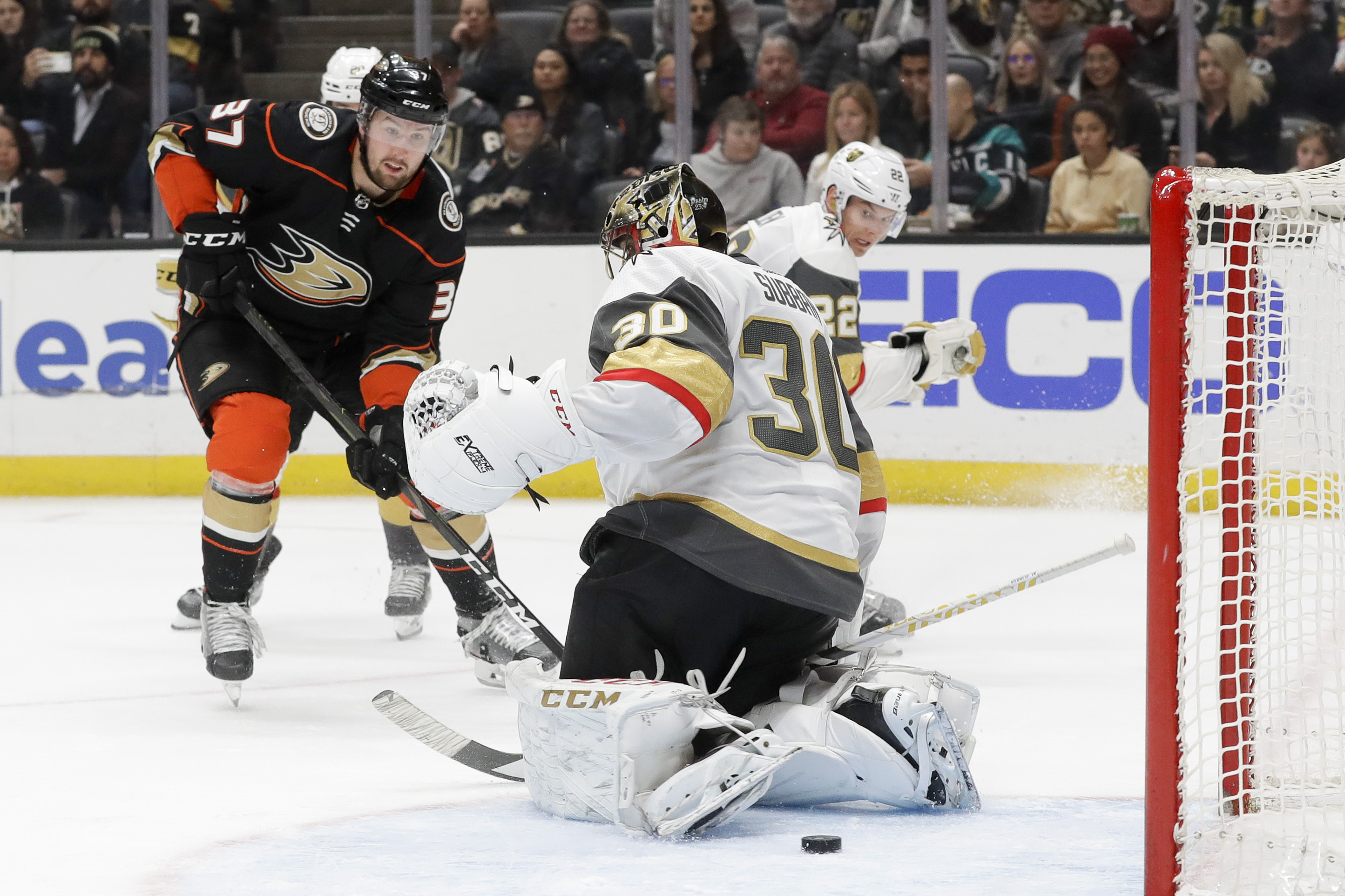 Karlsson's hat trick, Theodore's OT goal lift Knights in OT