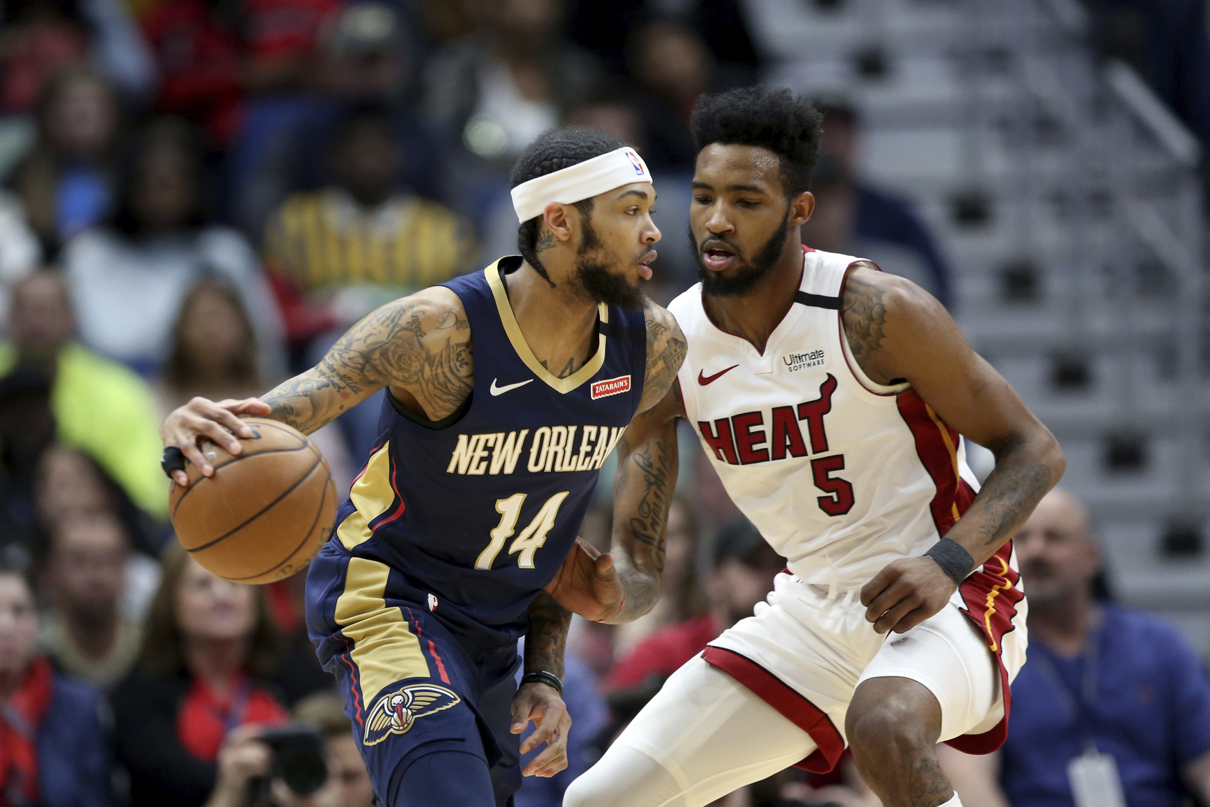 Ingram ovecomes shooting woes, helps Pelicans beat Heat