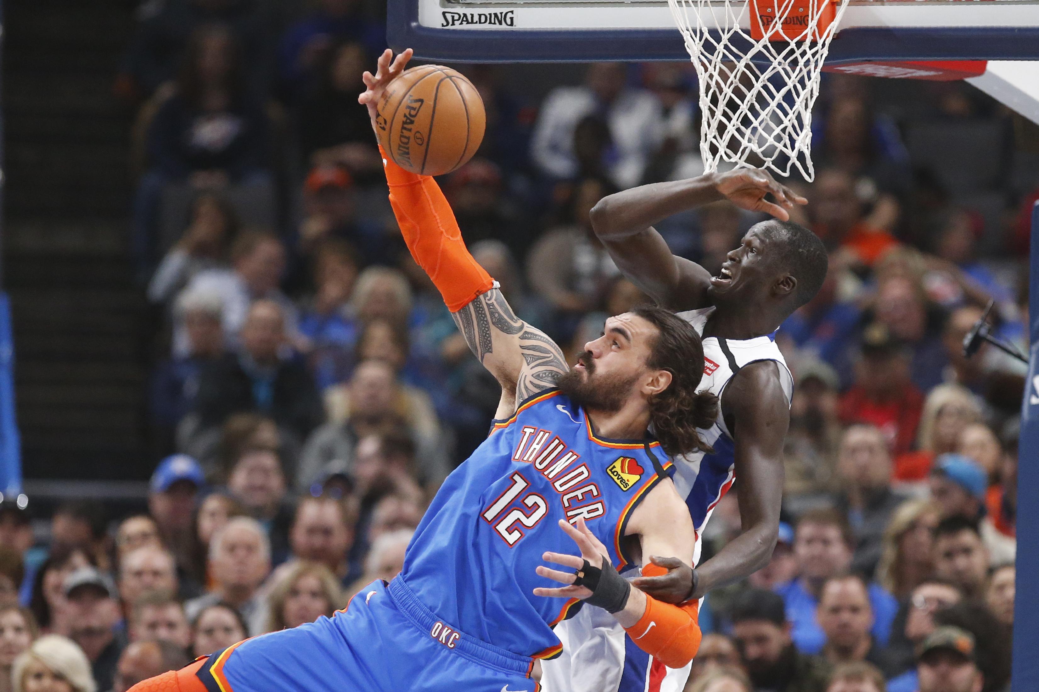 Paul, Gilgeous-Alexander lead Thunder past Pistons 108-101