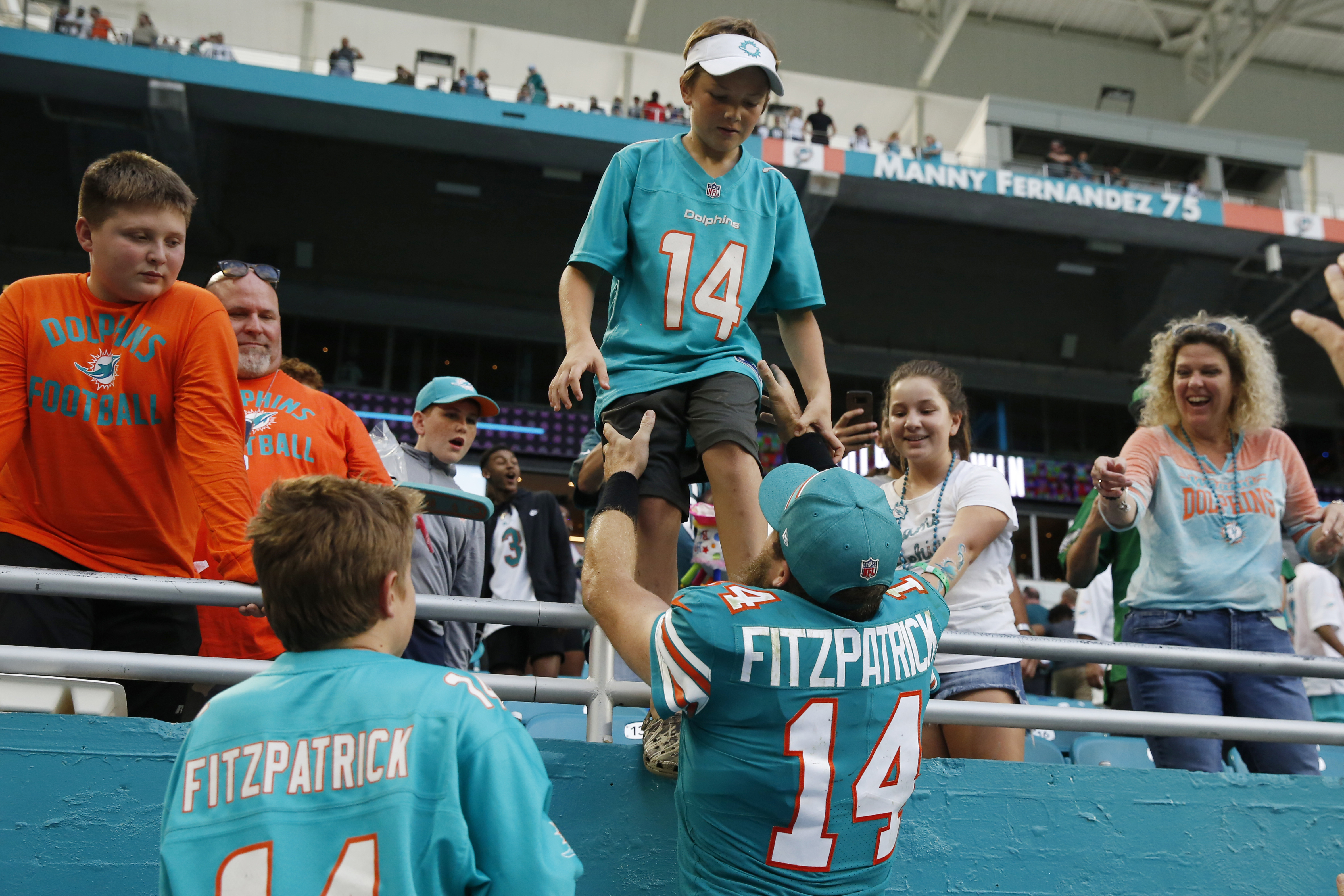 Fitzpatrick awaits battle with Tua for Dolphins' QB job