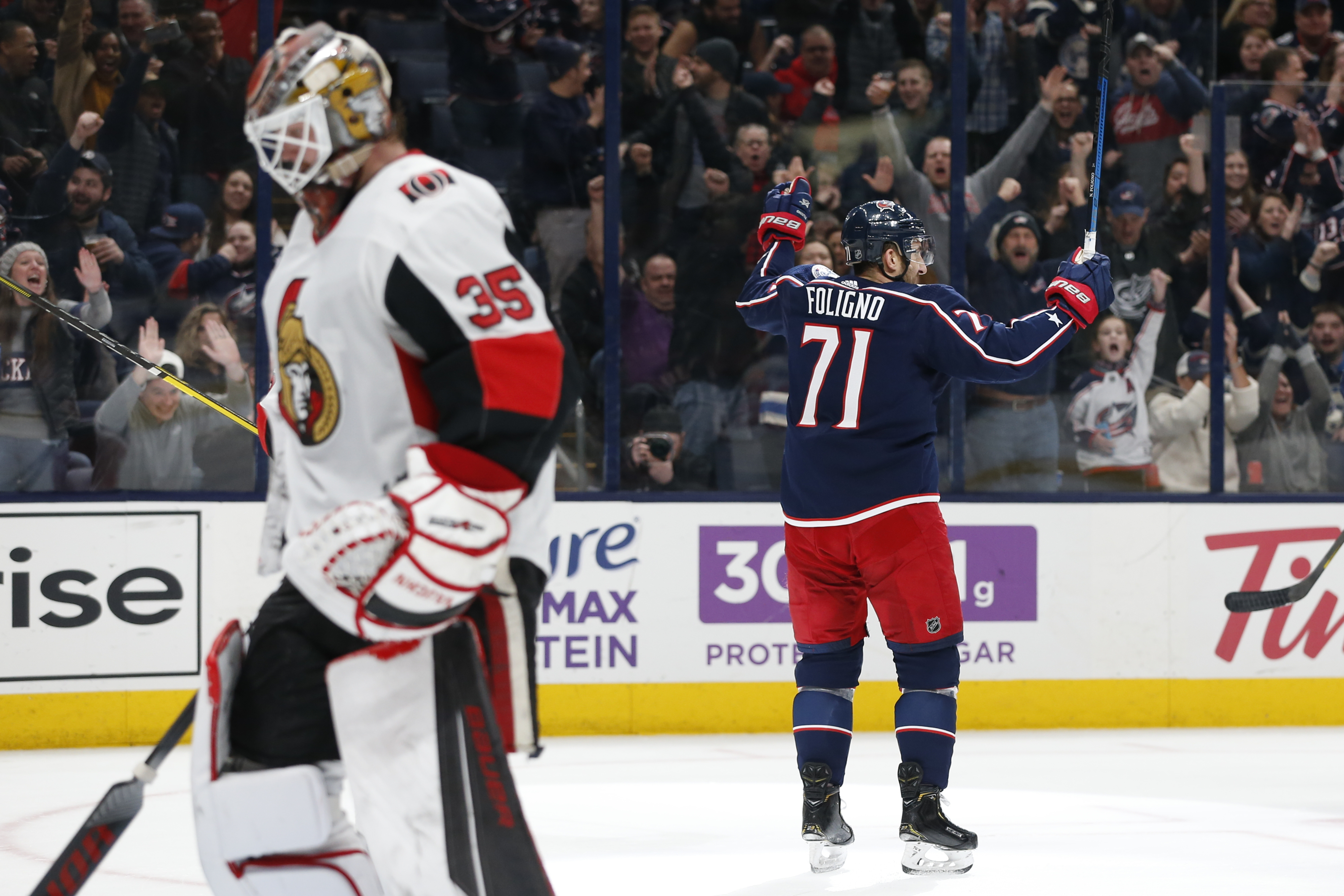Bemstrom's OT tally lifts Blue Jackets over Senators 4-3