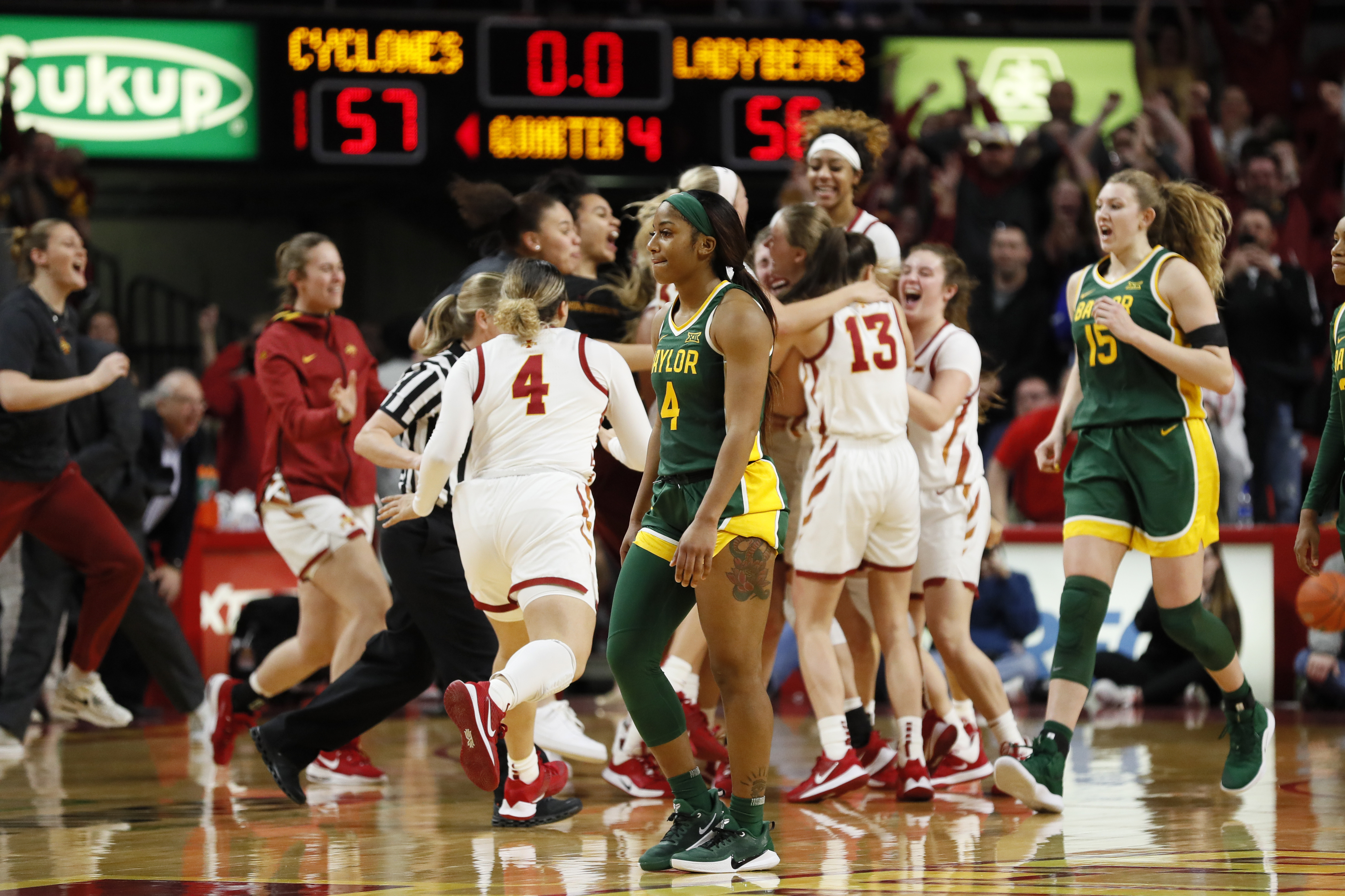 Iowa St stuns No. 2 Baylor, ending Lady Bears' Big 12 streak