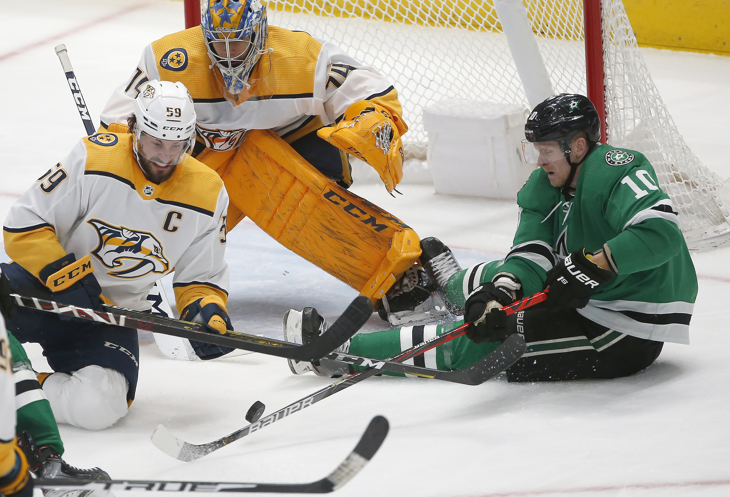 Juuse Saros, Predators shut out Stars for 2nd time in 3 days